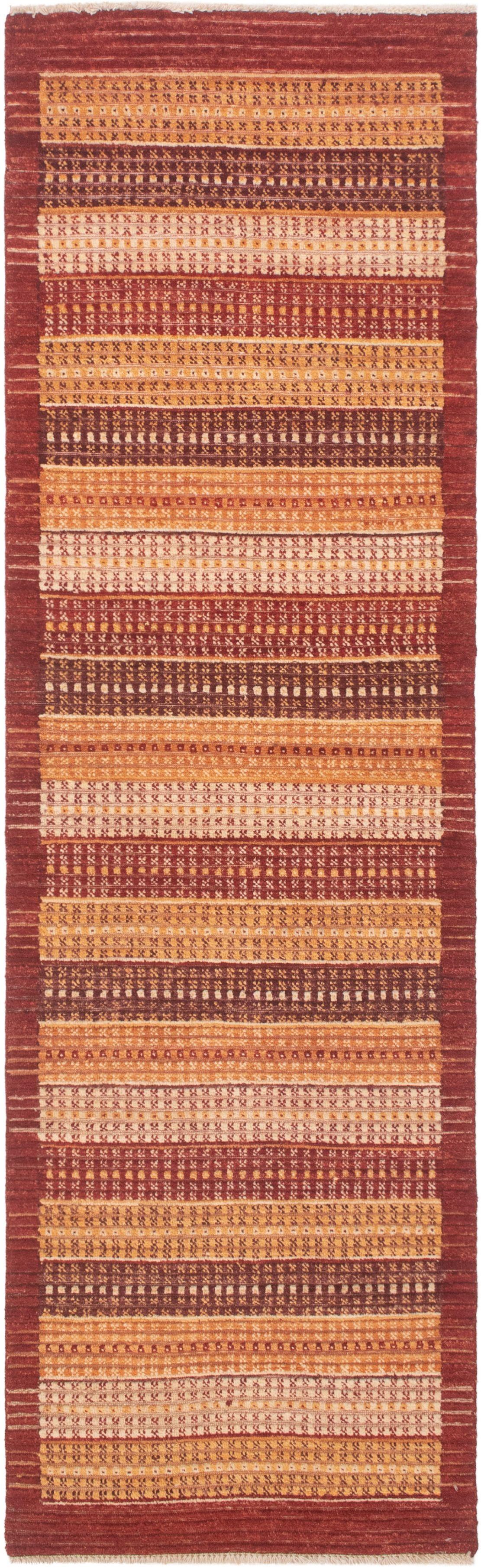 "Hand-knotted Finest Ziegler Chobi Dark Red Wool Rug 2'6"" x 8'8"" Size: 2'6"" x 8'8"""