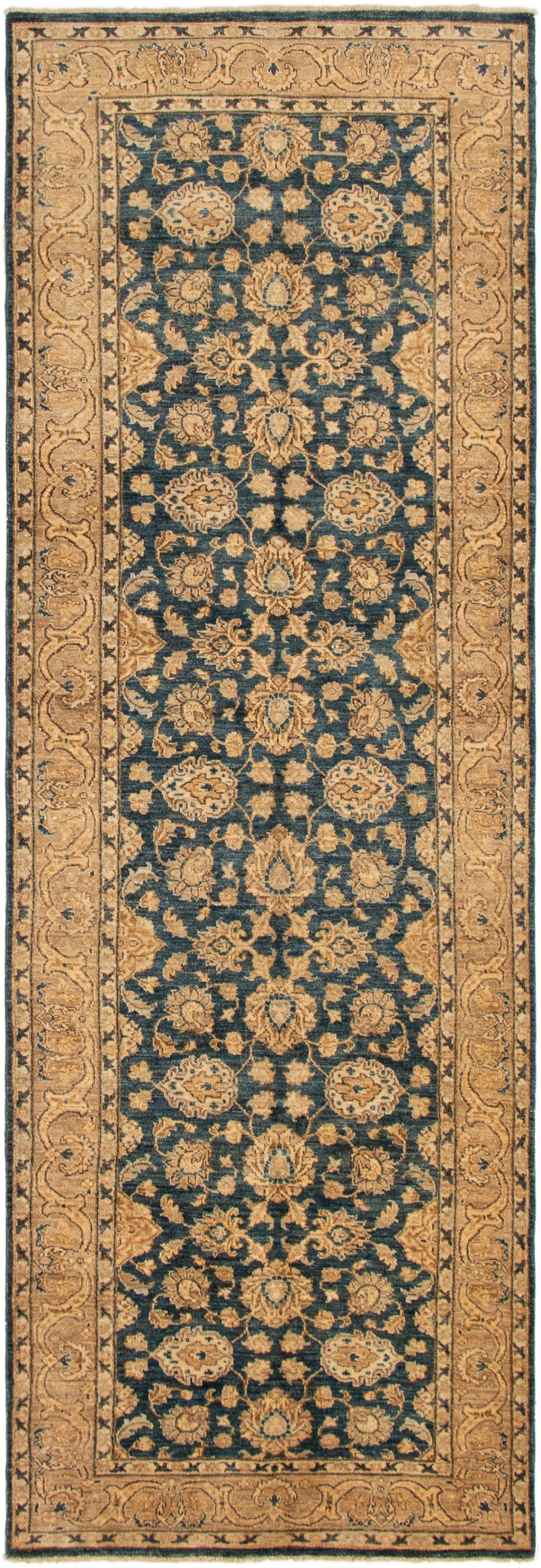"Hand-knotted Peshawar Oushak Navy Blue Wool Rug 4'0"" x 12'3"" Size: 4'0"" x 12'3"""