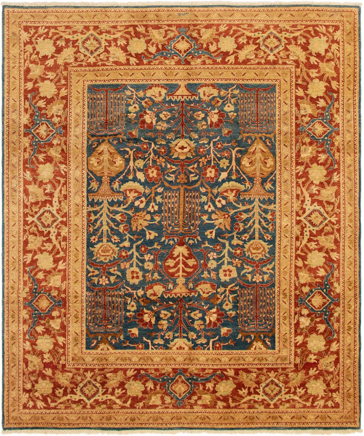 "Hand-knotted Peshawar Finest Dark Blue Wool Rug 8'0"" x 9'8"" Size: 8'0"" x 9'8"""