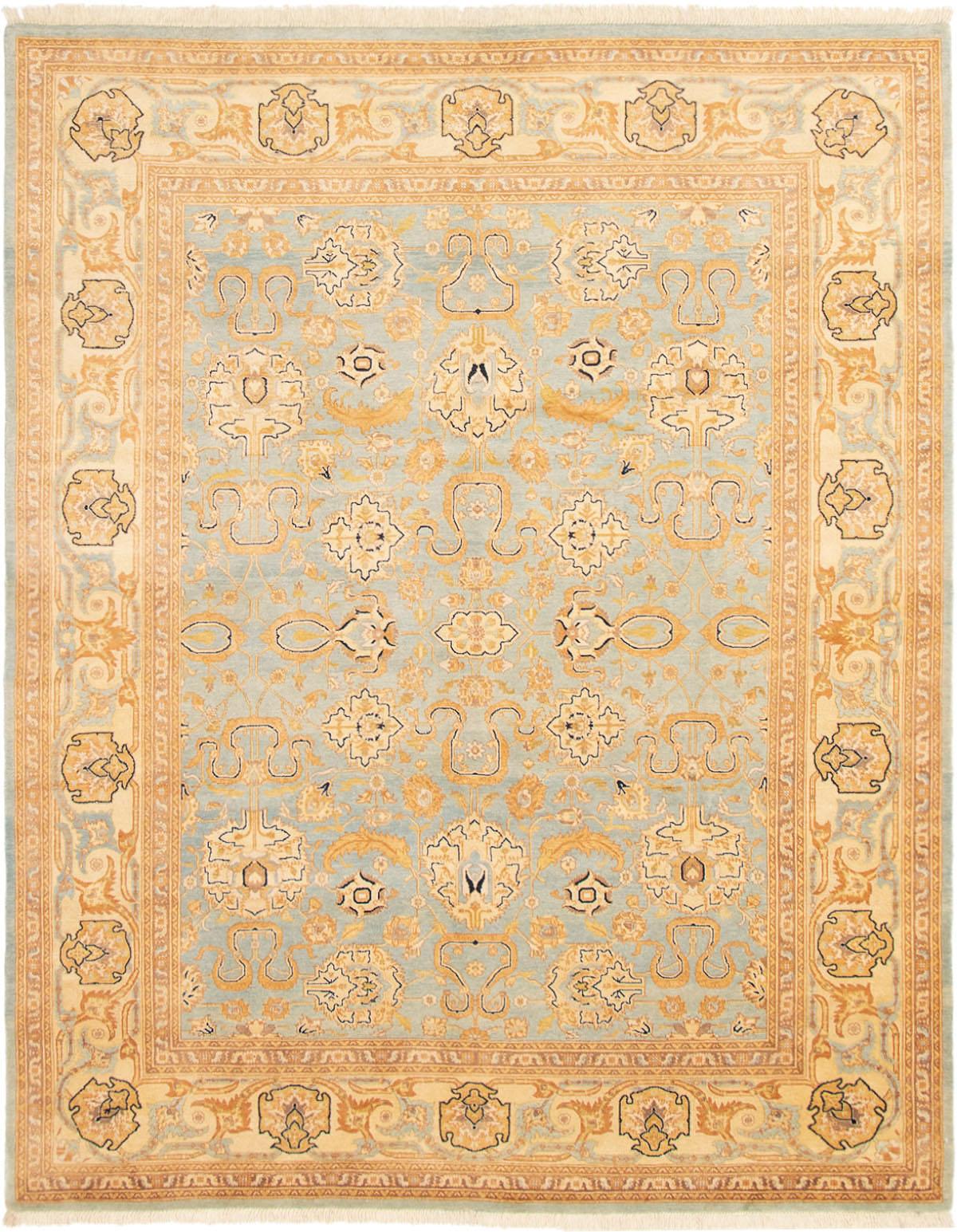 "Hand-knotted Peshawar Oushak Light Blue  Wool Rug 8'0"" x 10'2"" Size: 8'0"" x 10'2"""