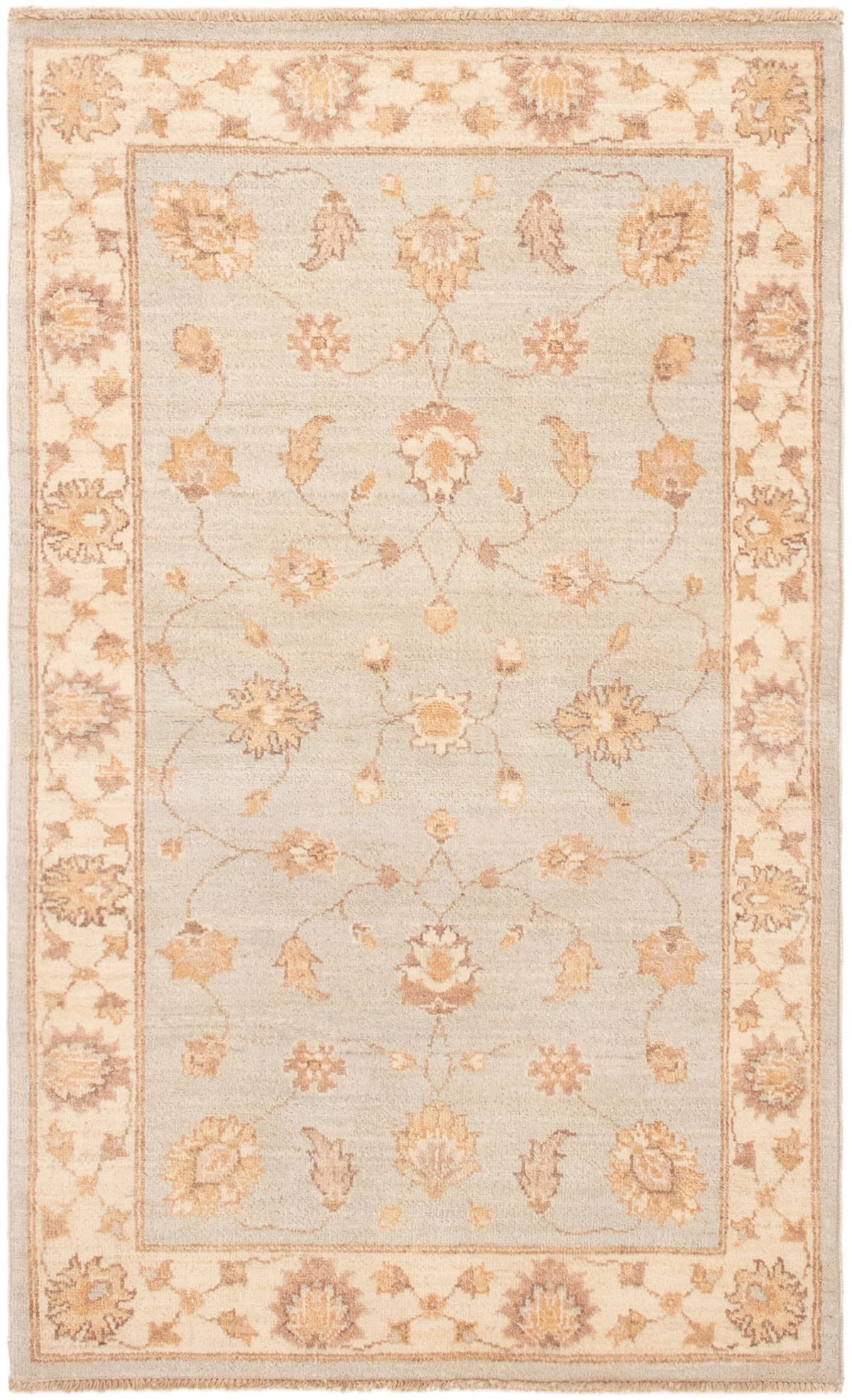 """Hand-knotted Peshawar Finest Light Blue  Wool Rug 3'2"""" x 5'2"""" Size: 3'2"""" x 5'2"""""""