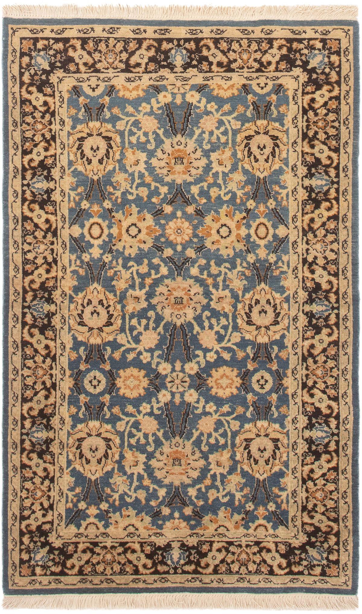 "Hand-knotted Peshawar Finest Light Denim Blue Wool Rug 3'1"" x 5'2"" Size: 3'1"" x 5'2"""