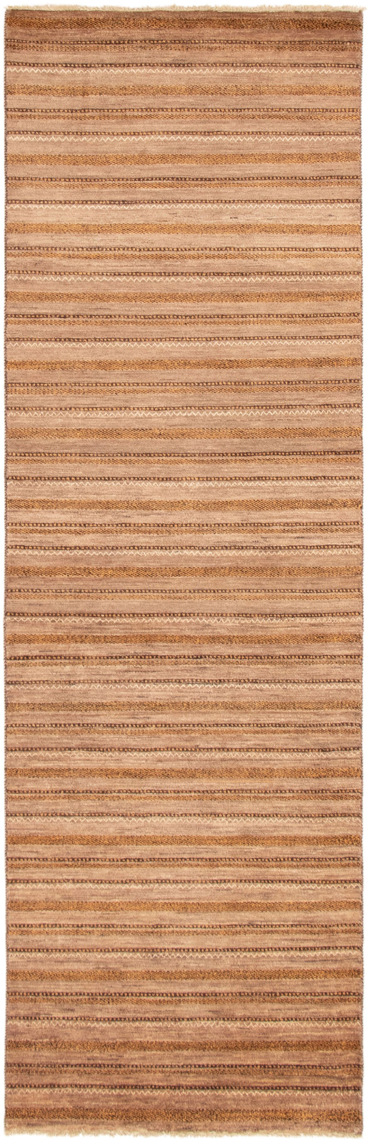 """Hand-knotted Finest Ziegler Chobi Brown Wool Rug 3'2"""" x 10'2"""" Size: 3'2"""" x 10'2"""""""