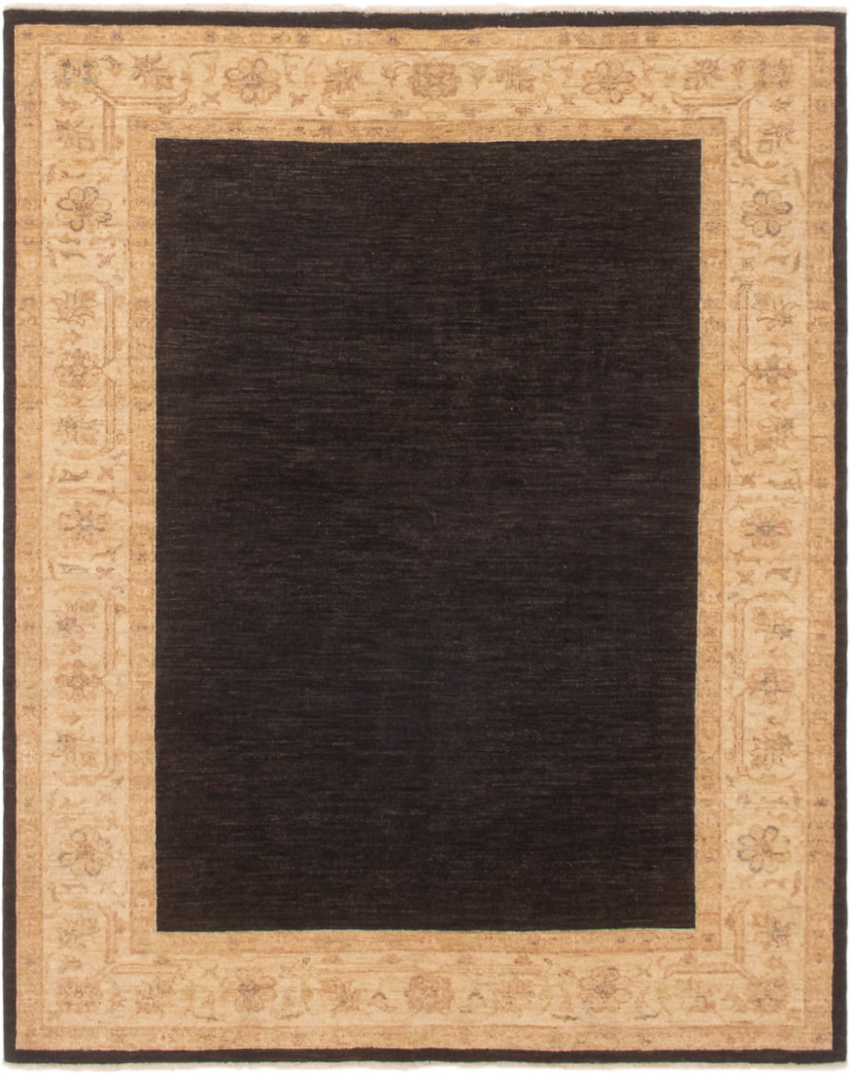"""Hand-knotted Chobi Finest Black Wool Rug 5'1"""" x 6'3"""" Size: 5'1"""" x 6'3"""""""