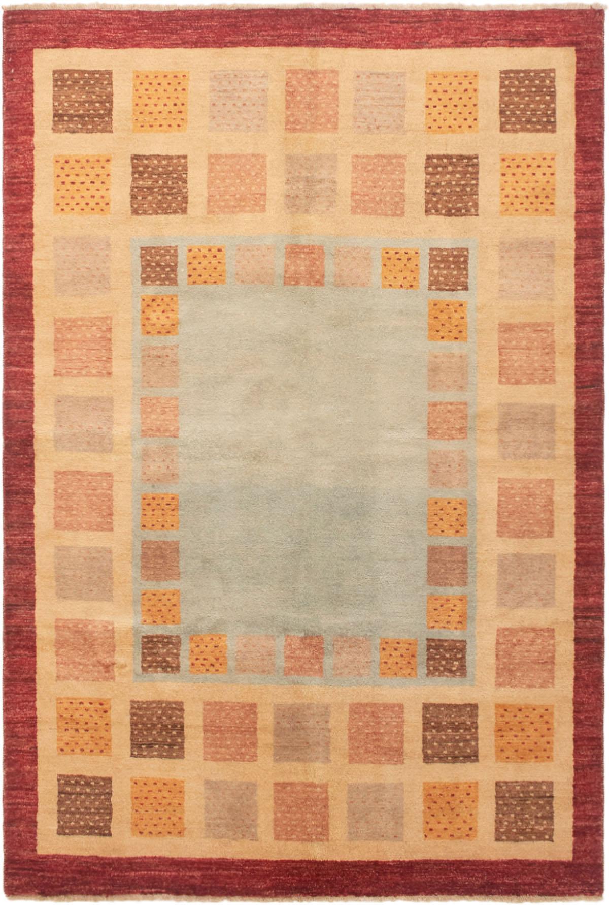 """Hand-knotted Finest Ziegler Chobi Light Blue , Light Gold Wool Rug 5'6"""" x 8'3"""" Size: 5'6"""" x 8'3"""""""