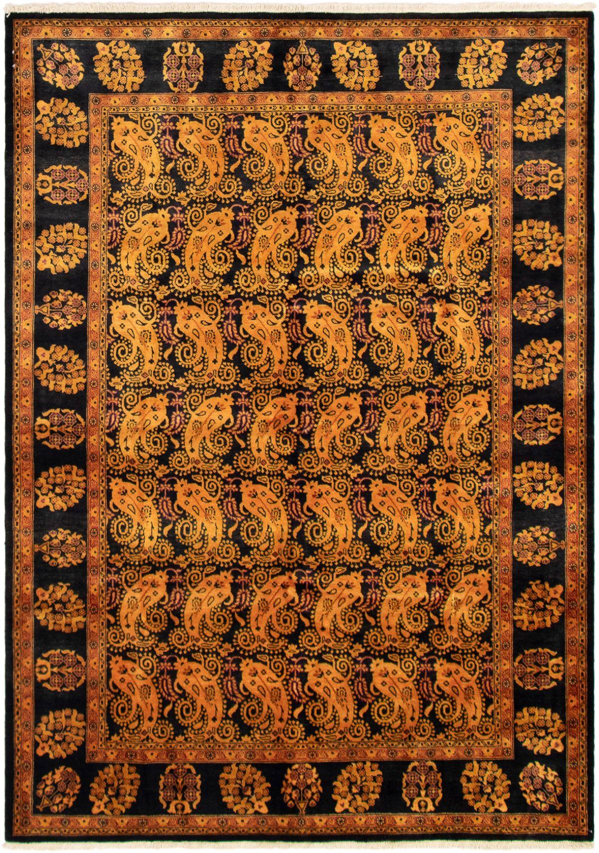 "Hand-knotted Peshawar Finest Light Orange Wool Rug 6'2"" x 8'8"" Size: 6'2"" x 8'8"""