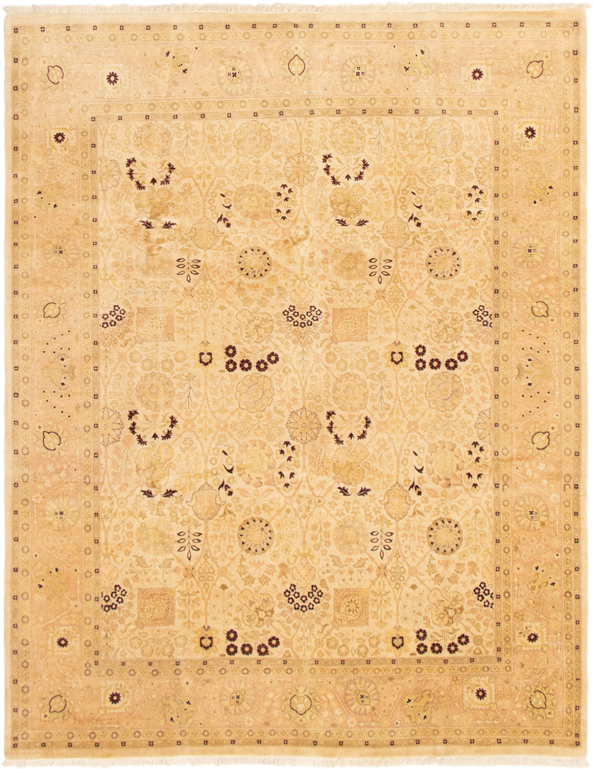 """Hand-knotted Pako Persian 18/20 Cream Wool Rug 8'0"""" x 10'2""""  Size: 8'0"""" x 10'2"""""""