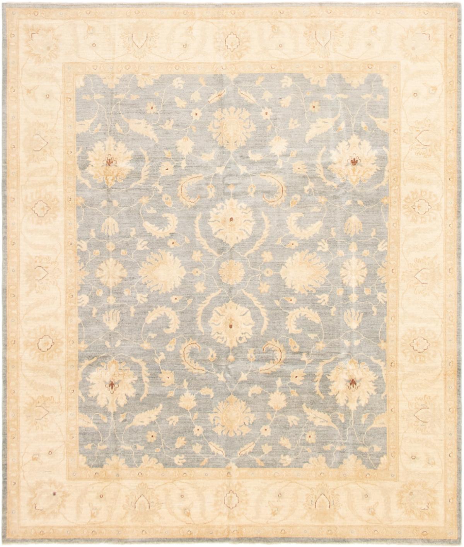 "Hand-knotted Peshawar Finest Light Denim Blue Wool Rug 8'1"" x 9'8"" Size: 8'1"" x 9'8"""