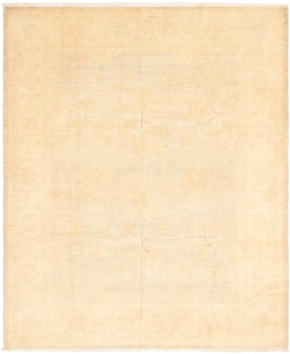 """Hand-knotted Peshawar Oushak Khaki, Light Blue  Wool Rug 8'3"""" x 9'9"""" Size: 8'3"""" x 9'9"""""""