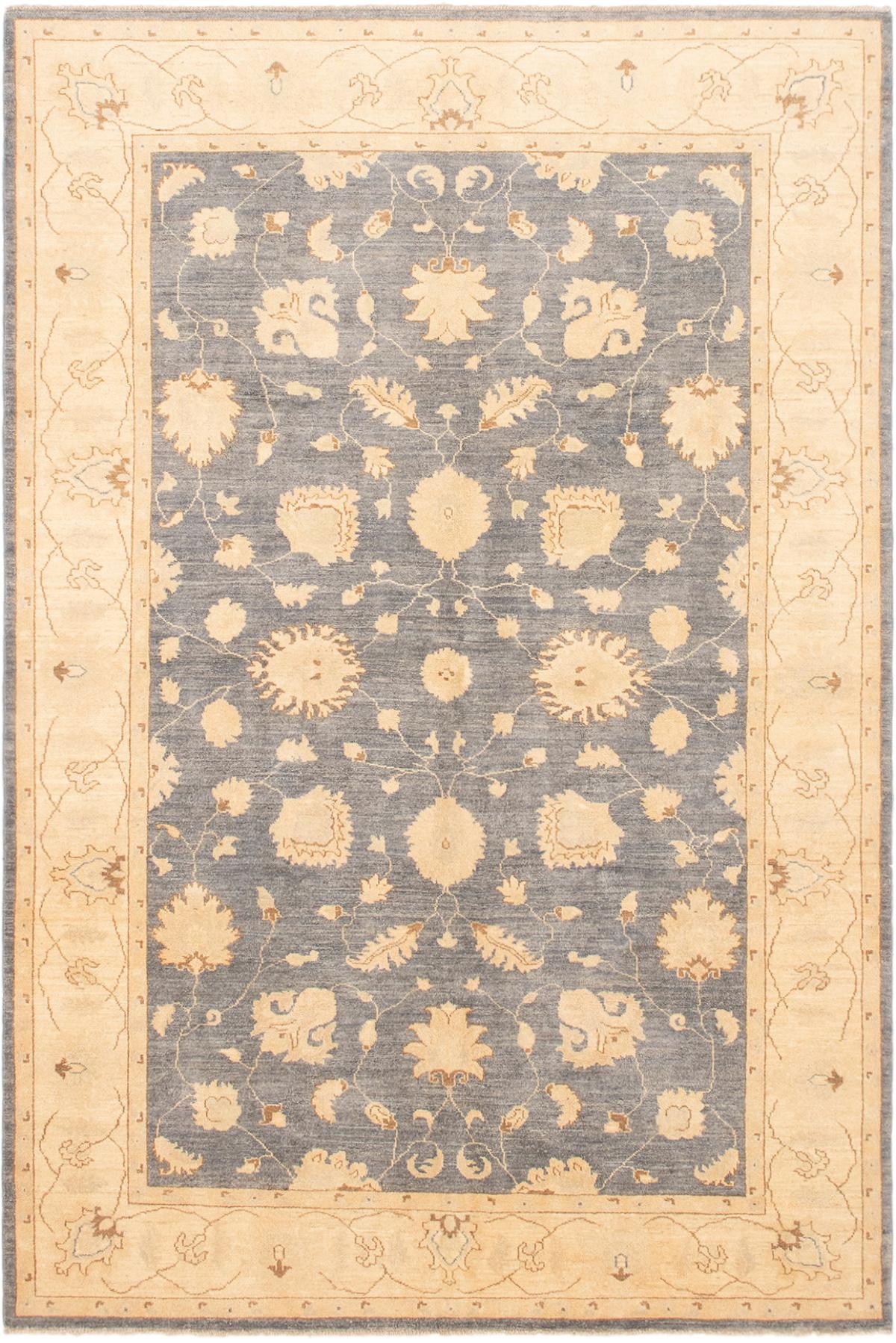 "Hand-knotted Peshawar Finest Light Denim Blue,  Wool Rug 6'0"" x 9'0"" Size: 6'0"" x 9'0"""