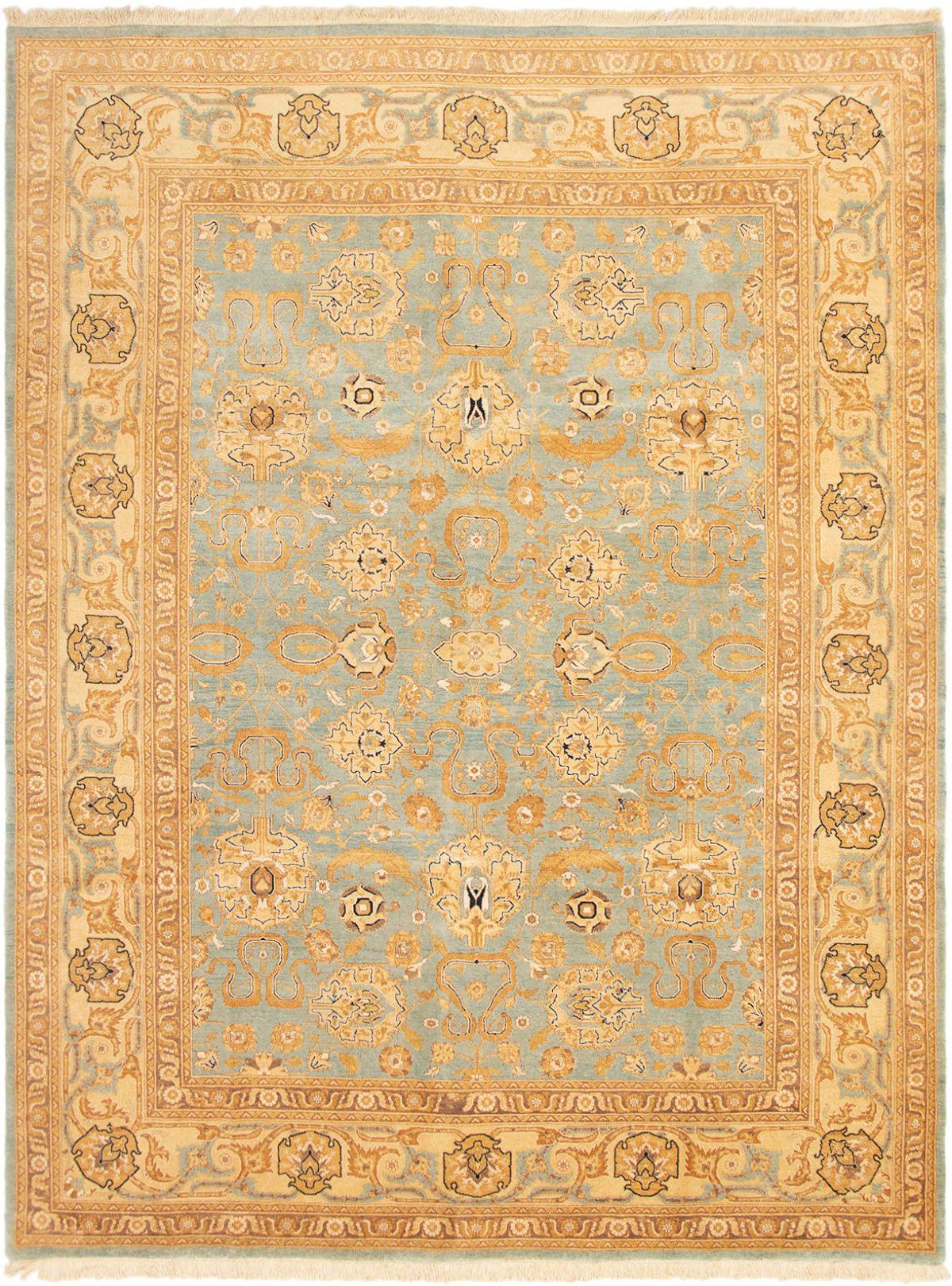 "Hand-knotted Peshawar Oushak Light Blue  Wool Rug 9'0"" x 12'0"" Size: 9'0"" x 12'0"""