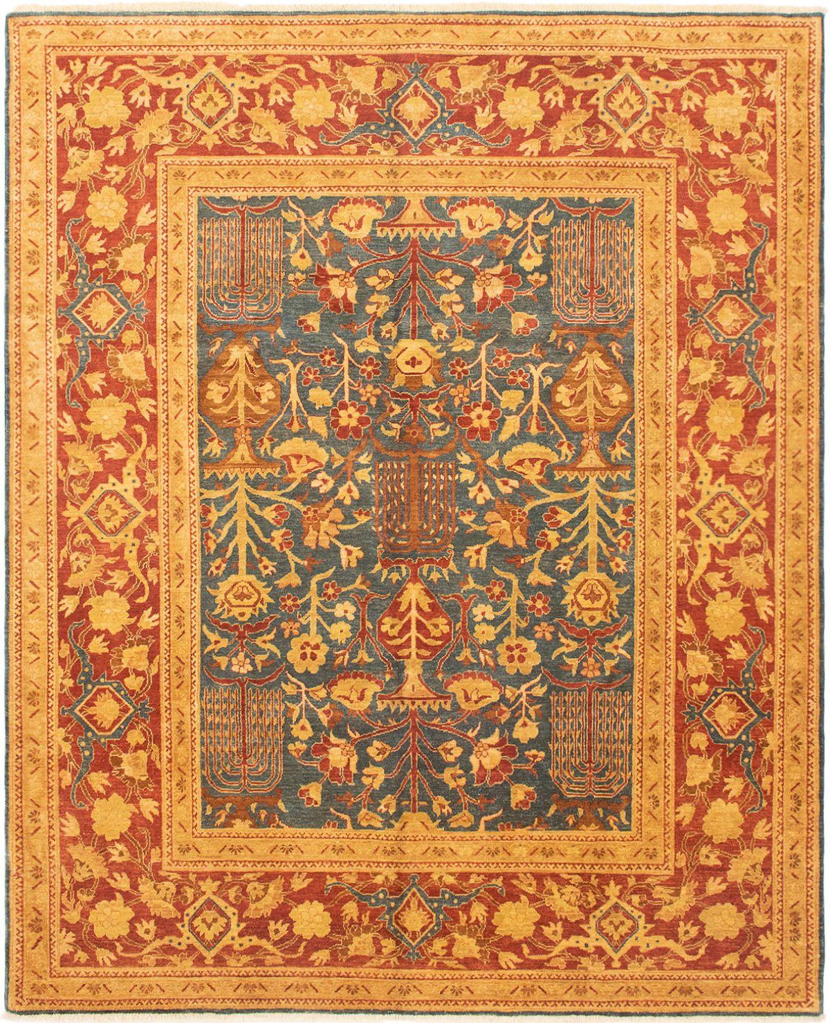 "Hand-knotted Peshawar Oushak Navy Blue Wool Rug 8'1"" x 9'9"" Size: 8'1"" x 9'9"""