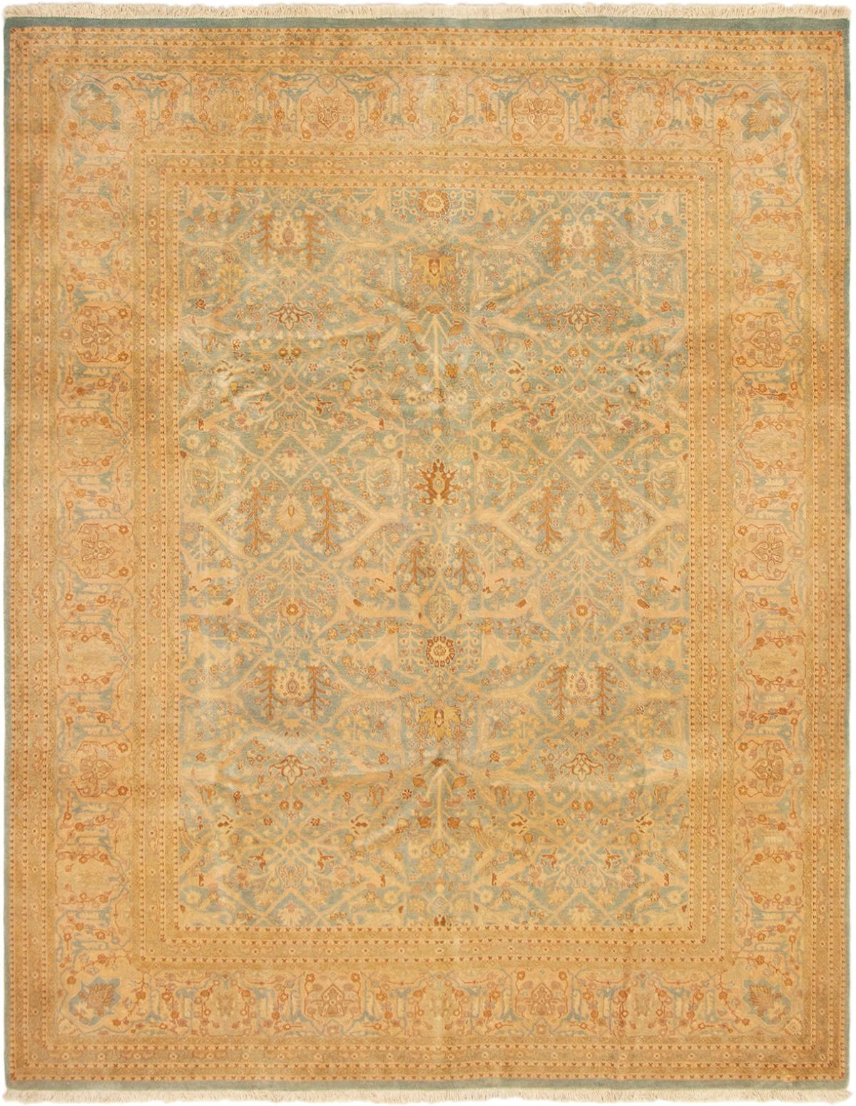 "Hand-knotted Peshawar Finest Light Denim Blue,  Wool Rug 8'1"" x 10'1"" Size: 8'1"" x 10'1"""