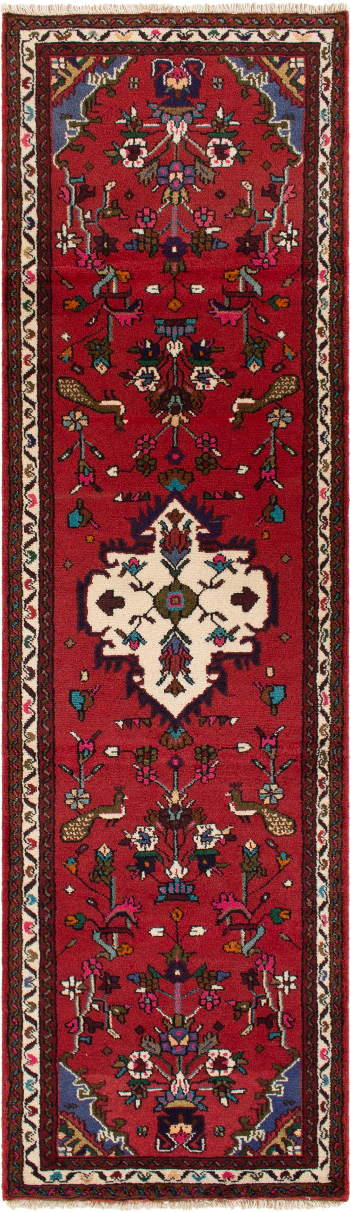 "Hand-knotted Hamadan  Wool Rug 2'7"" x 9'5"" Size: 2'7"" x 9'5"""