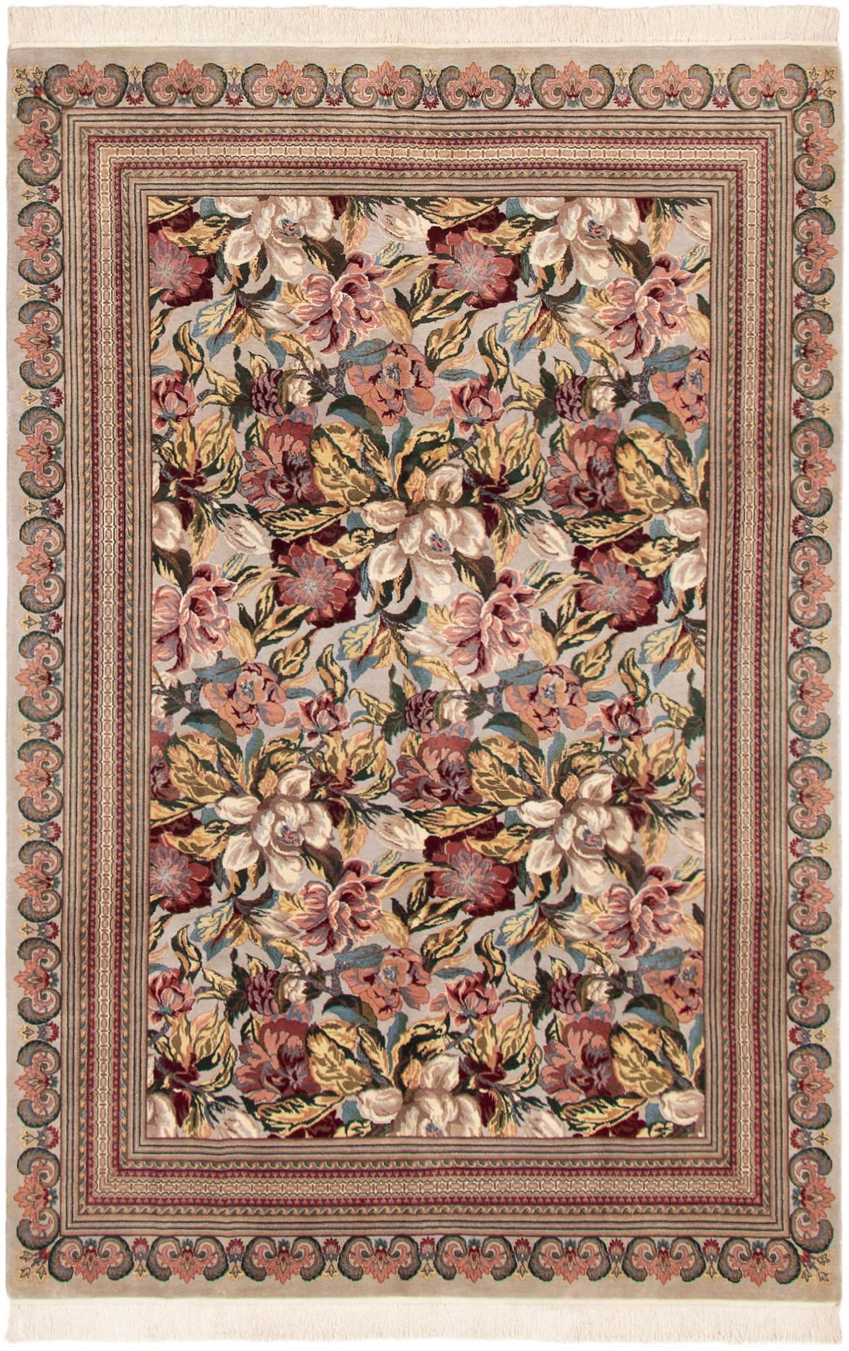 "Hand-knotted Pako Persian 18/20 Light Grey Wool Rug 6'1"" x 9'3"" Size: 6'1"" x 9'3"""