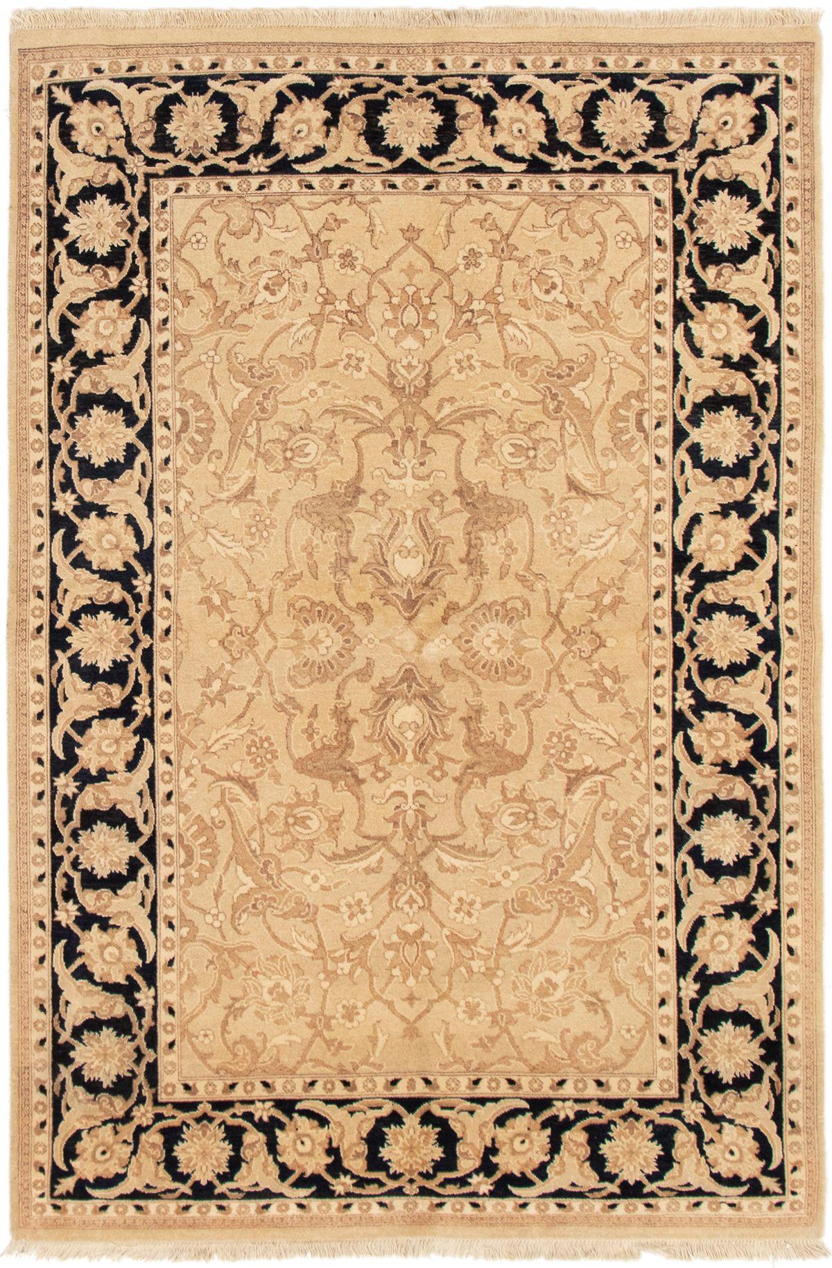"""Hand-knotted Peshawar Oushak Light Khaki Wool Rug 5'1"""" x 7'6"""" Size: 5'1"""" x 7'6"""""""