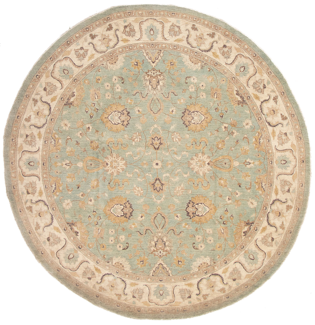 """Hand-knotted Peshawar Finest Light Blue  Wool Rug 9'10"""" x 10'2"""" Size: 9'10"""" x 10'2"""""""