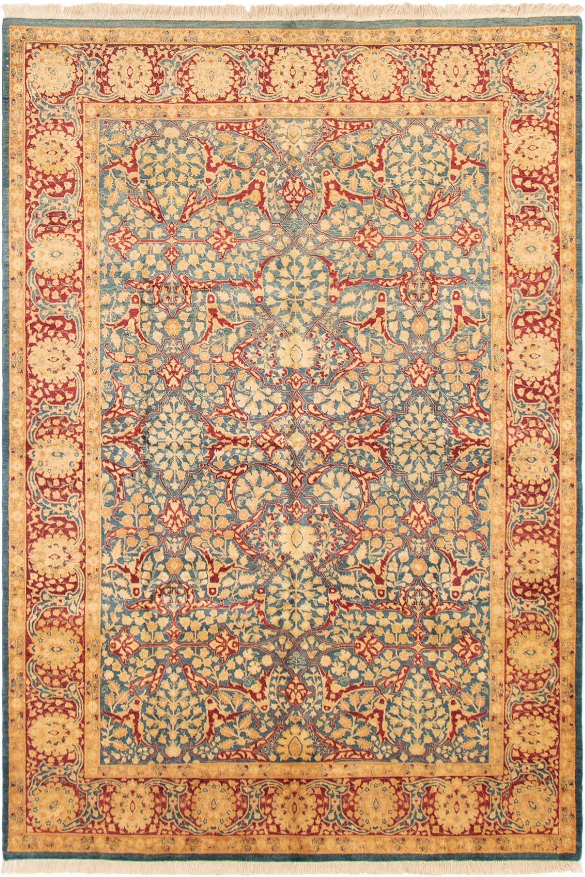 "Hand-knotted Pako Persian 18/20 Dark Blue,  Wool Rug 6'1"" x 9'0"" Size: 6'1"" x 9'0"""
