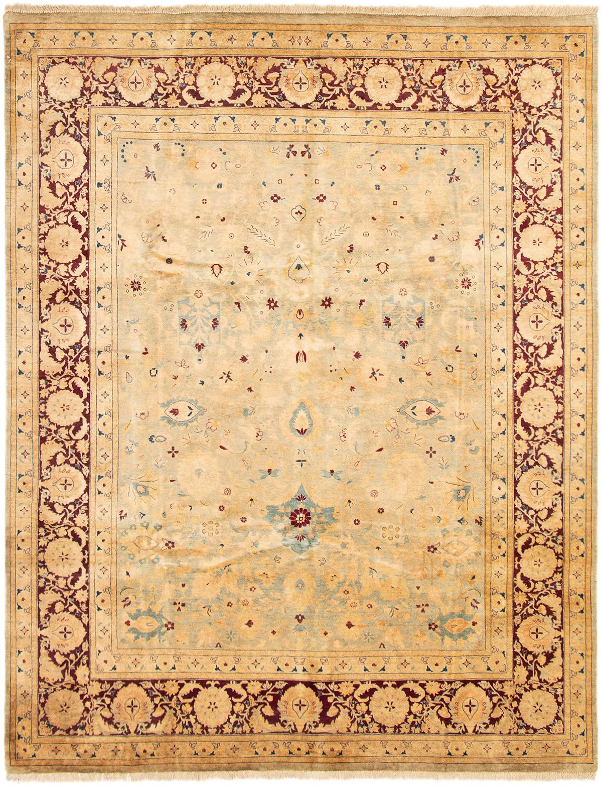 """Hand-knotted Pako Persian 18/20 Light Blue  Wool Rug 8'0"""" x 10'3"""" Size: 8'0"""" x 10'3"""""""
