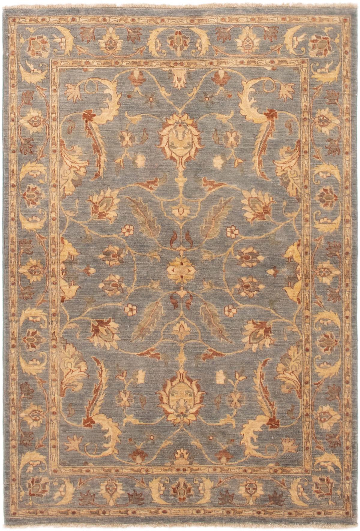 "Hand-knotted Peshawar Finest Light Denim Blue Wool Rug 4'9"" x 7'0"" Size: 4'9"" x 7'0"""