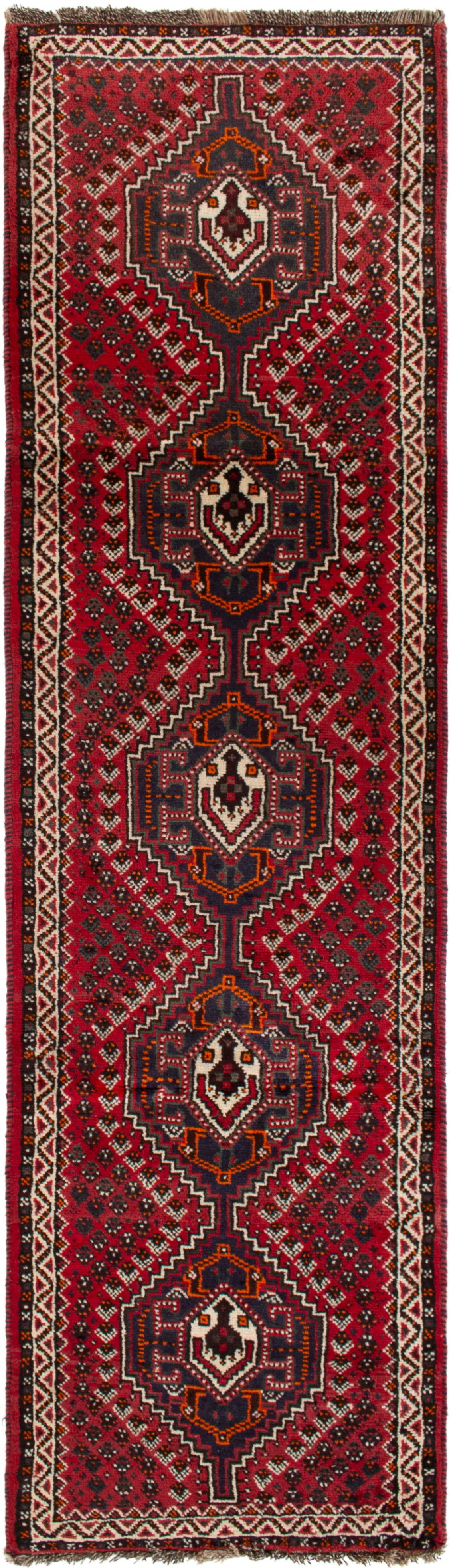 """Hand-knotted Shiraz  Wool Rug 2'8"""" x 9'9""""  Size: 2'7"""" x 9'9"""""""