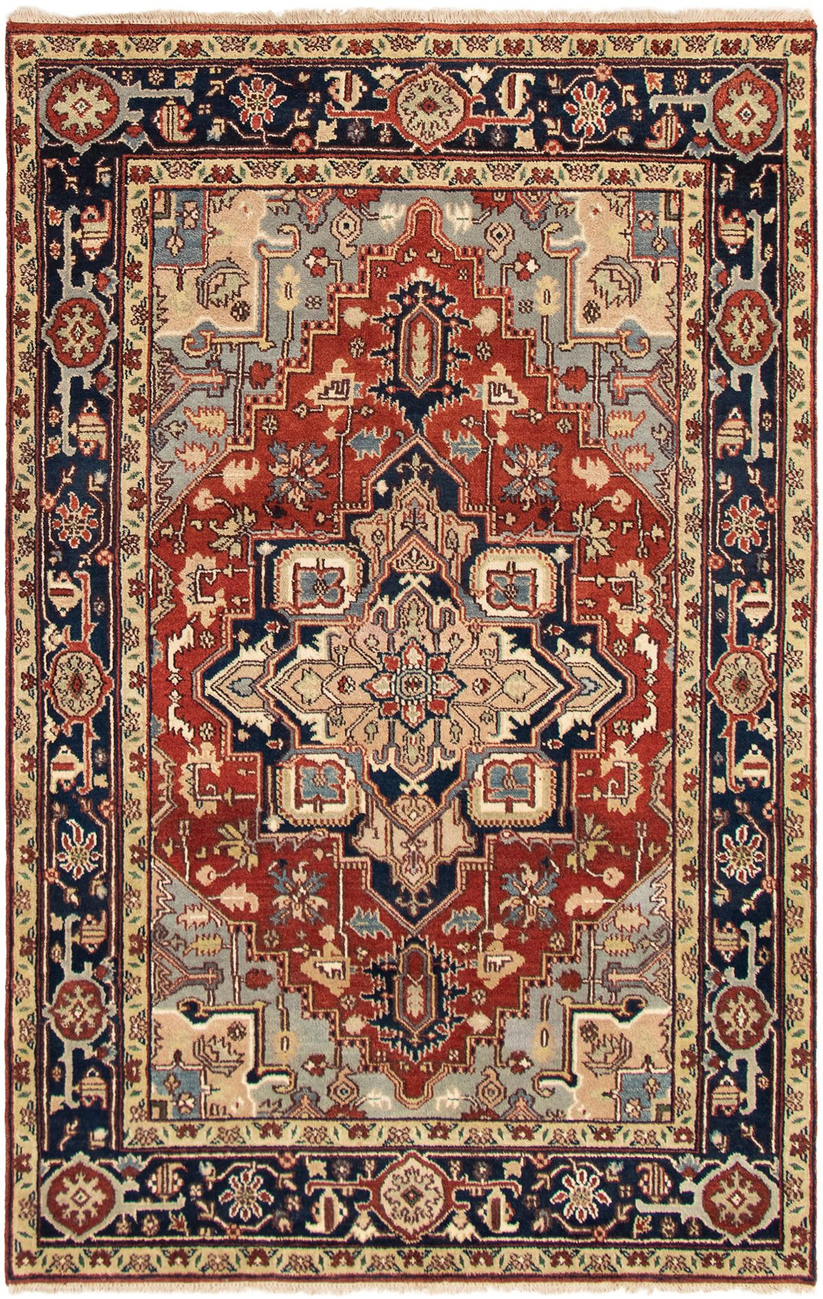 """Hand-knotted Serapi Heritage Dark Copper Wool Rug 5'10"""" x 9'2"""" Size: 5'10"""" x 9'2"""""""