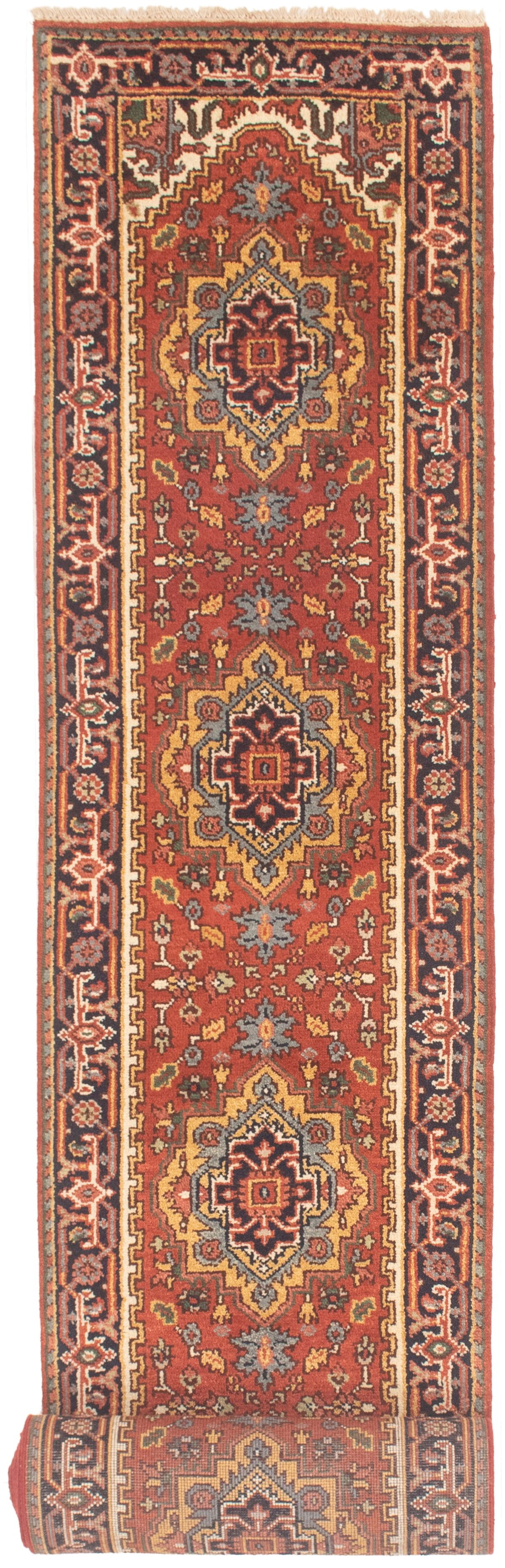 """Hand-knotted Serapi Heritage Dark Copper Wool Rug 2'6"""" x 19'10""""  Size: 2'6"""" x 19'10"""""""