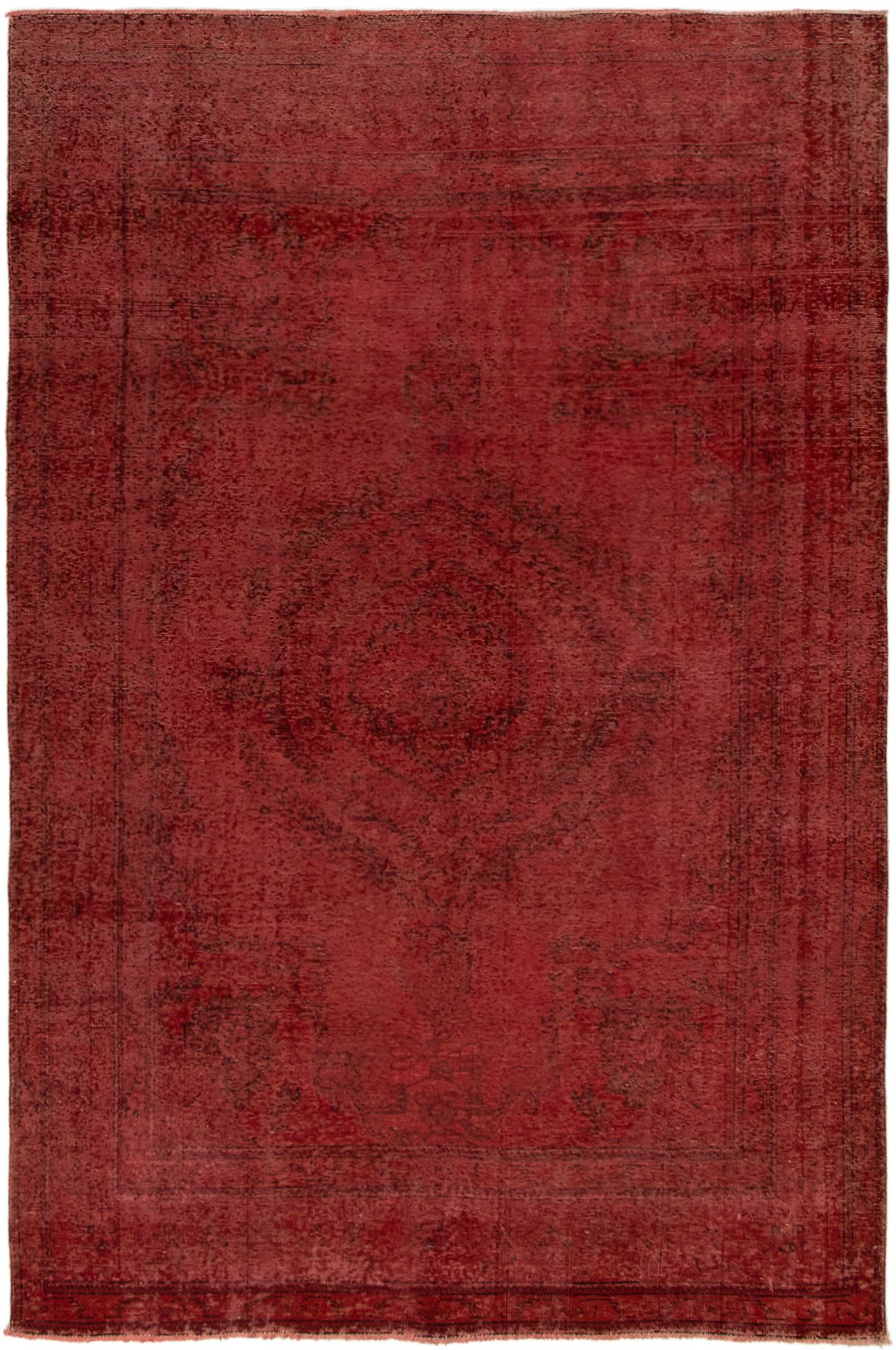 """Hand-knotted Color Transition Dark Red Wool Rug 6'9"""" x 10'0"""" Size: 6'9"""" x 10'0"""""""