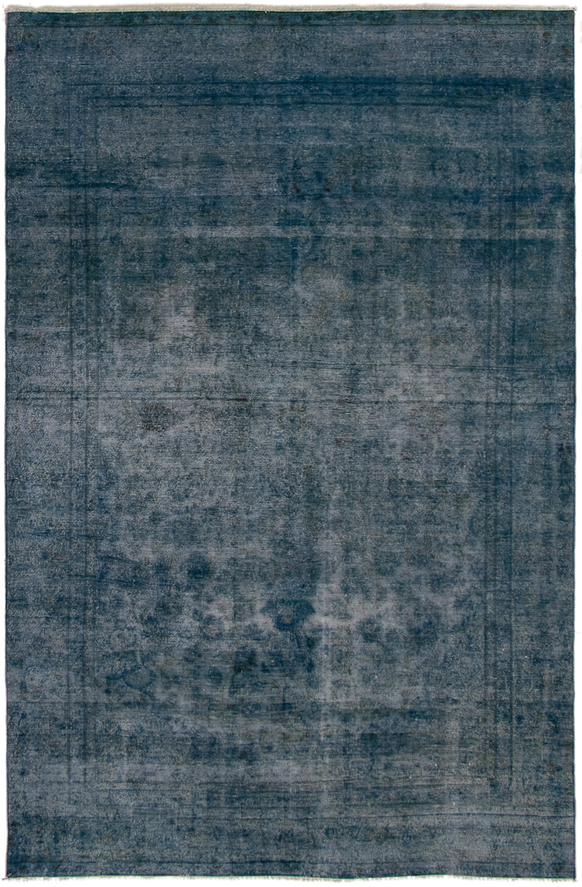 """Hand-knotted Color Transition Navy Blue Wool Rug 6'8"""" x 10'2"""" Size: 6'8"""" x 10'2"""""""