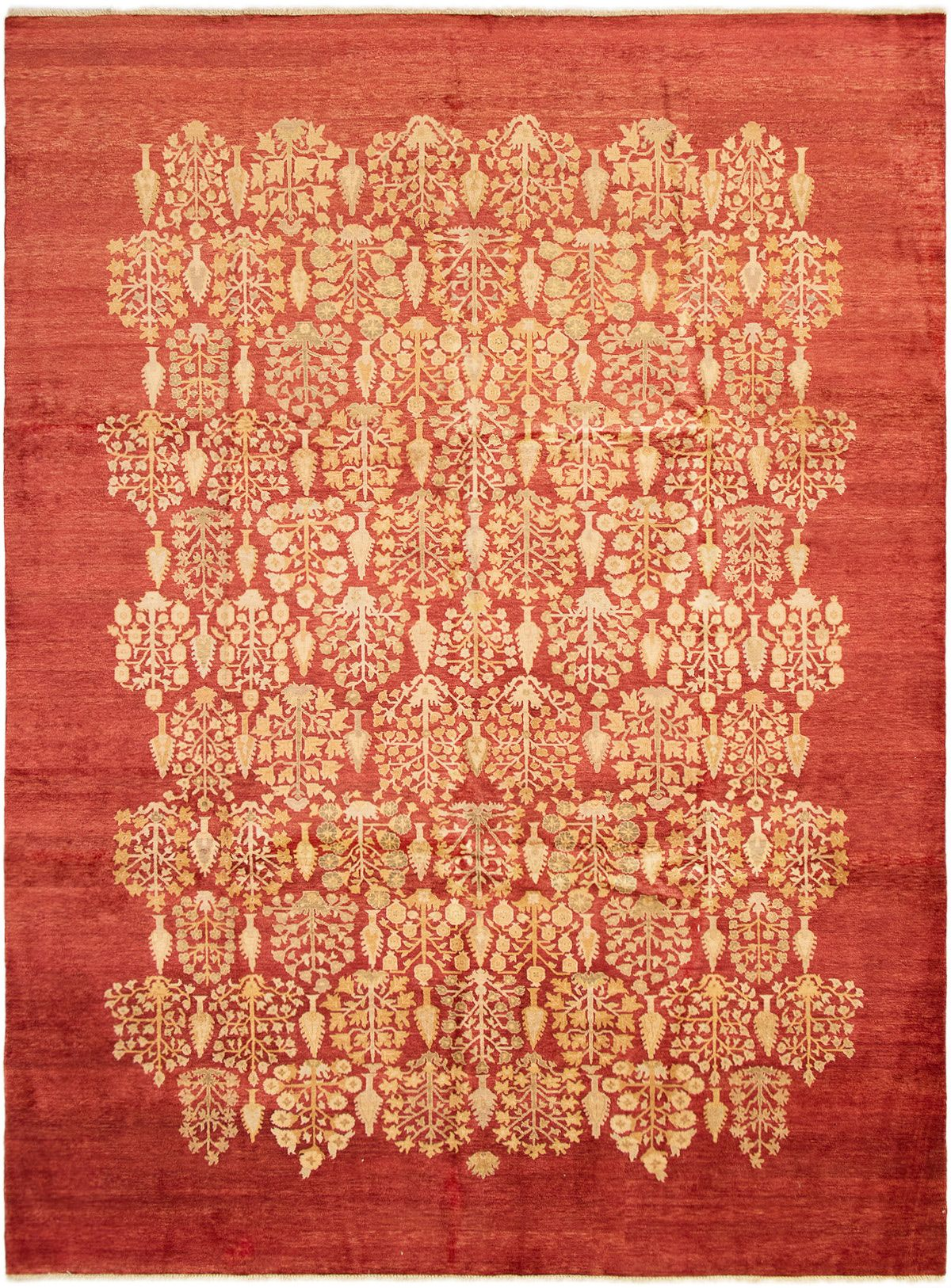 """Hand-knotted Pako Persian 18/20 Red Wool Rug 8'10"""" x 12'0"""" Size: 8'10"""" x 12'0"""""""