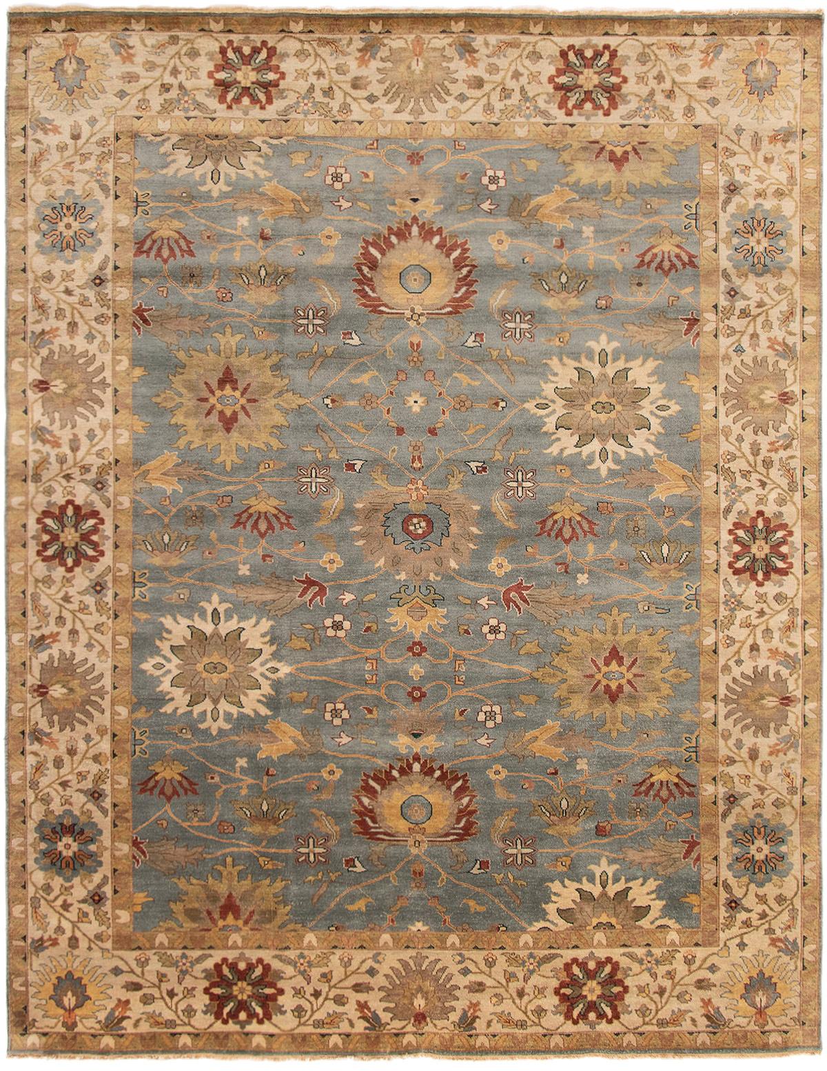"Hand-knotted Jules Serapi Light Denim Blue,  Wool Rug 8'11"" x 11'6"" Size: 8'11"" x 11'6"""