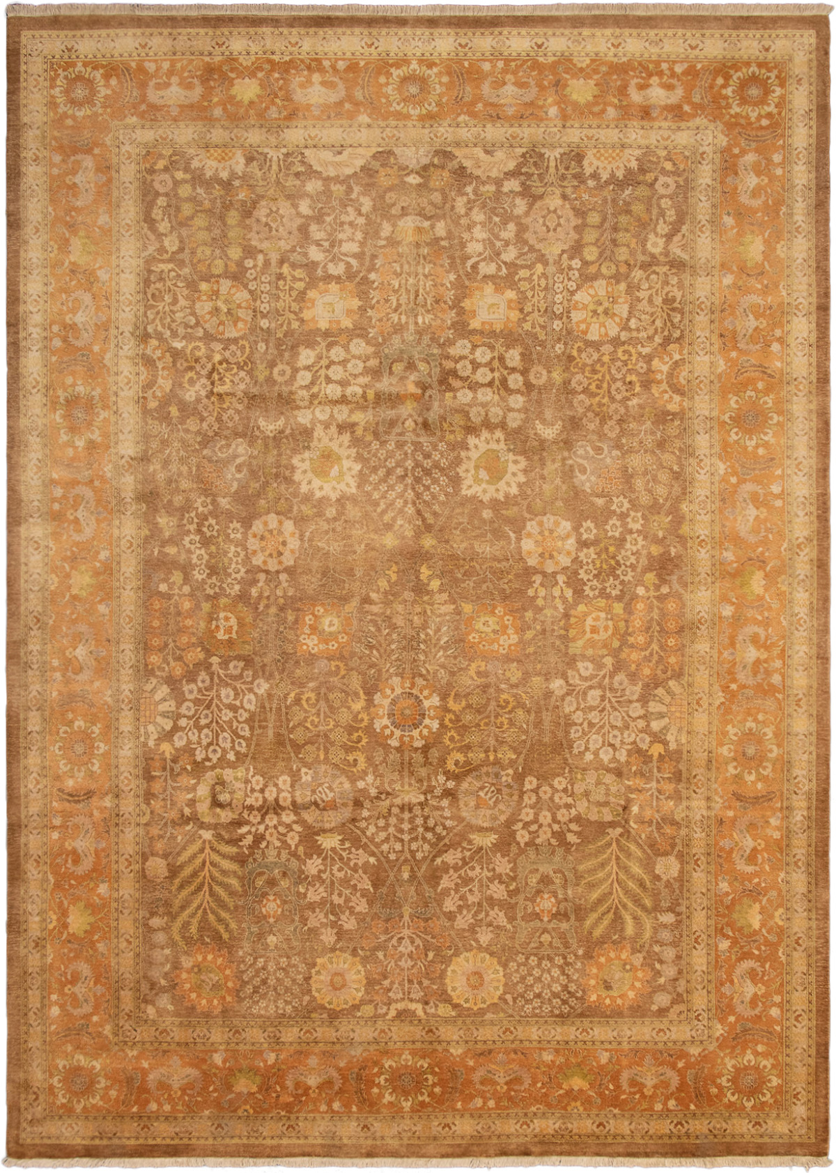 """Hand-knotted Pako Persian 18/20 Brown Wool Rug 9'10"""" x 14'0"""" Size: 9'10"""" x 14'0"""""""