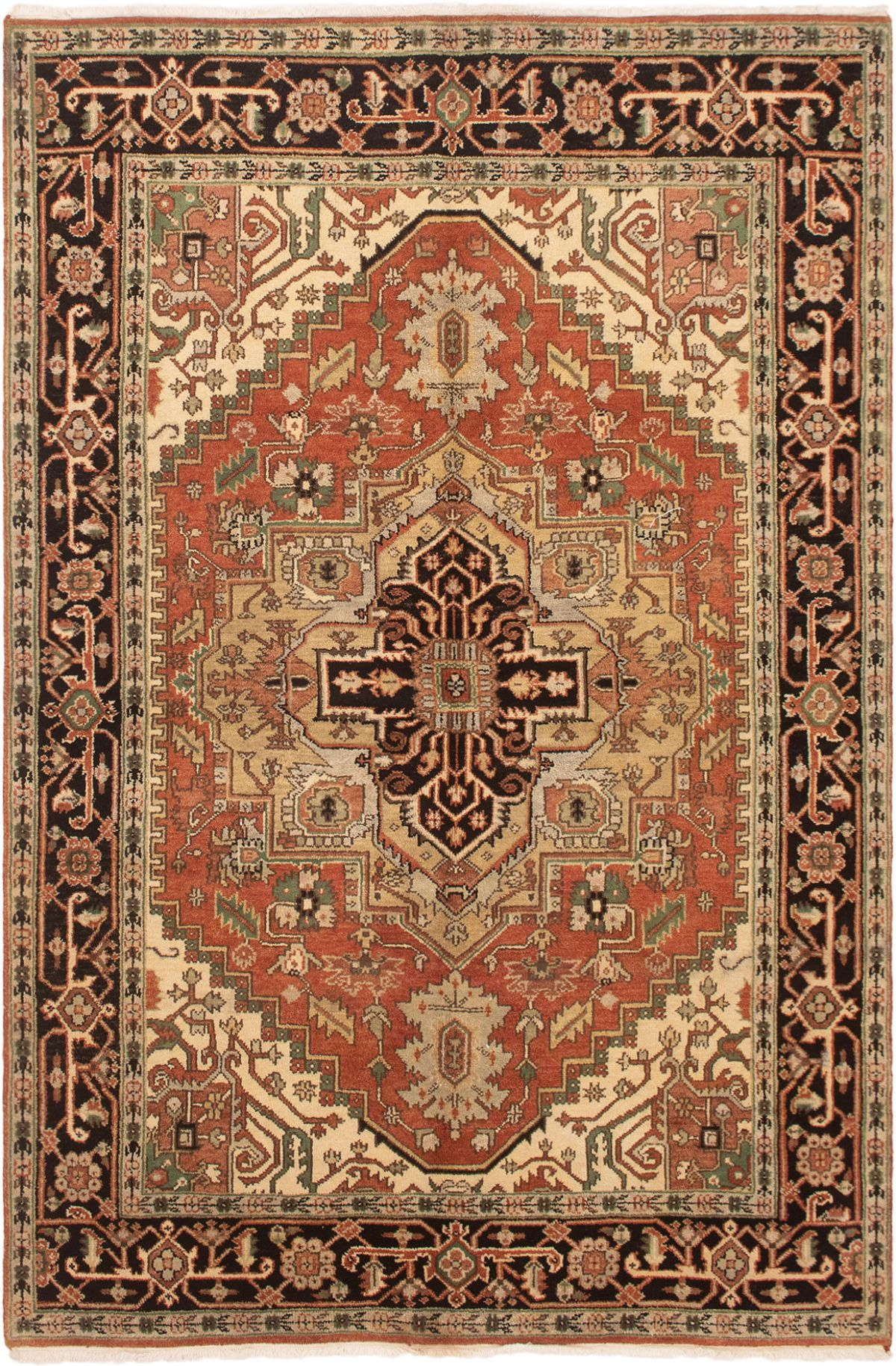 """Hand-knotted Serapi Heritage Copper Wool Rug 6'3"""" x 9'0"""" Size: 6'3"""" x 9'0"""""""