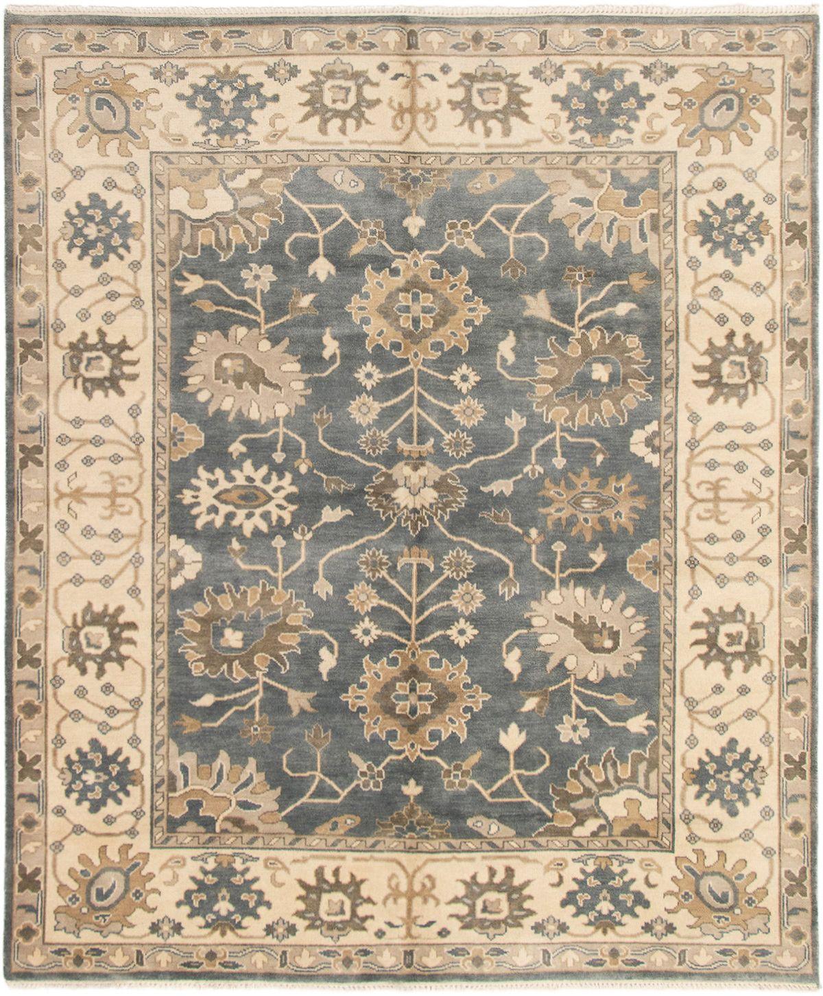 "Hand-knotted Royal Ushak Light Denim Blue,  Wool Rug 8'1"" x 9'9"" Size: 8'1"" x 9'9"""