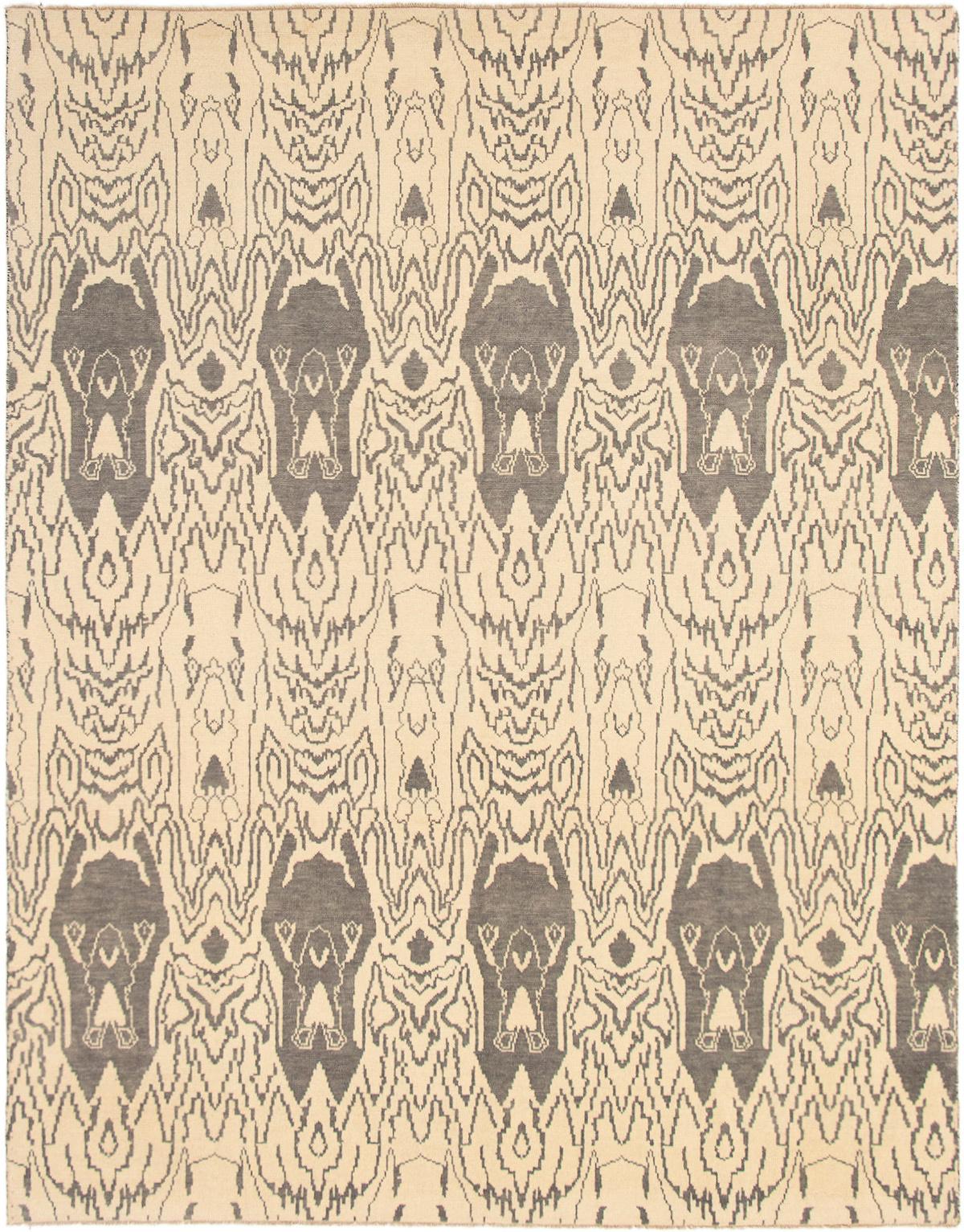 "Hand-knotted Finest Ushak Ivory Wool Rug 8'0"" x 10'2"" Size: 8'0"" x 10'2"""