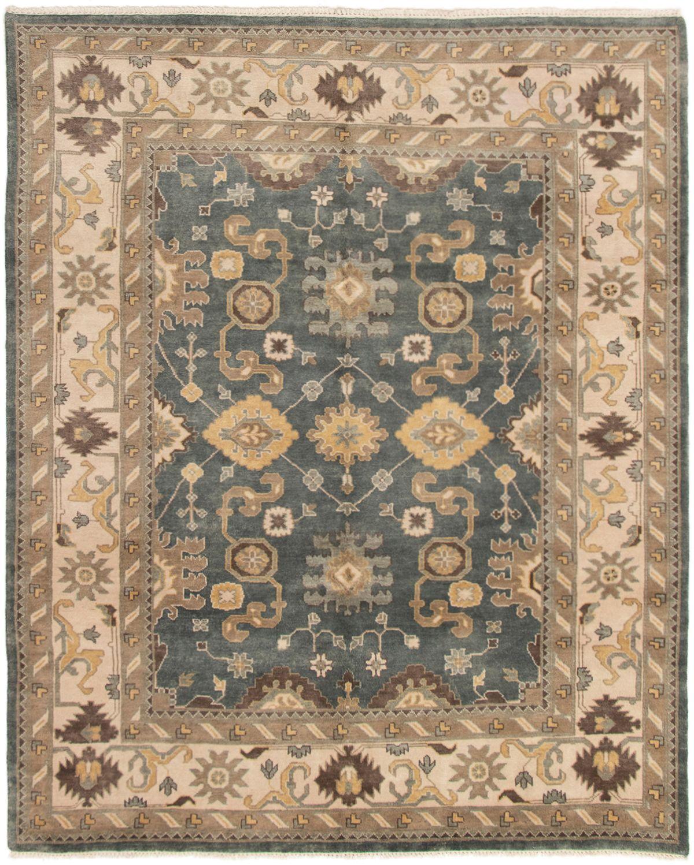 "Hand-knotted Royal Ushak Light Denim Blue,  Wool Rug 8'2"" x 10'0"" Size: 8'2"" x 10'0"""