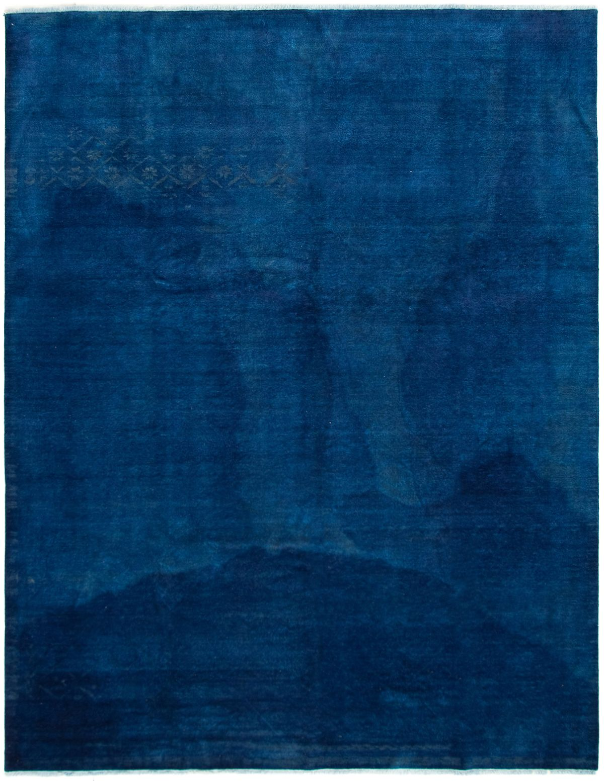 """Hand-knotted Color transition Dark Blue Wool Rug 9'0"""" x 11'8"""" Size: 9'0"""" x 11'8"""""""