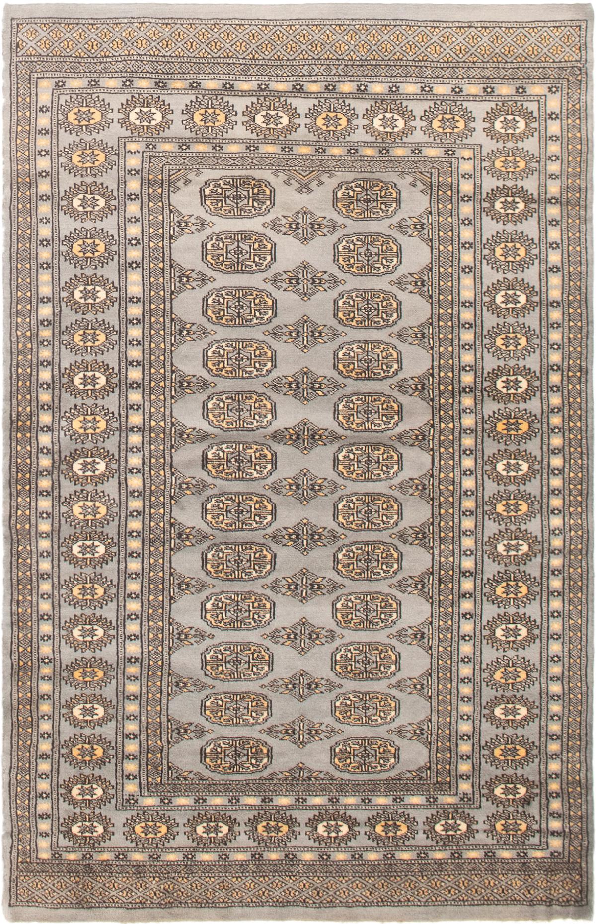 "Hand-knotted Finest Peshawar Bokhara Light Blue  Wool Rug 4'0"" x 6'3"" Size: 4'0"" x 6'3"""