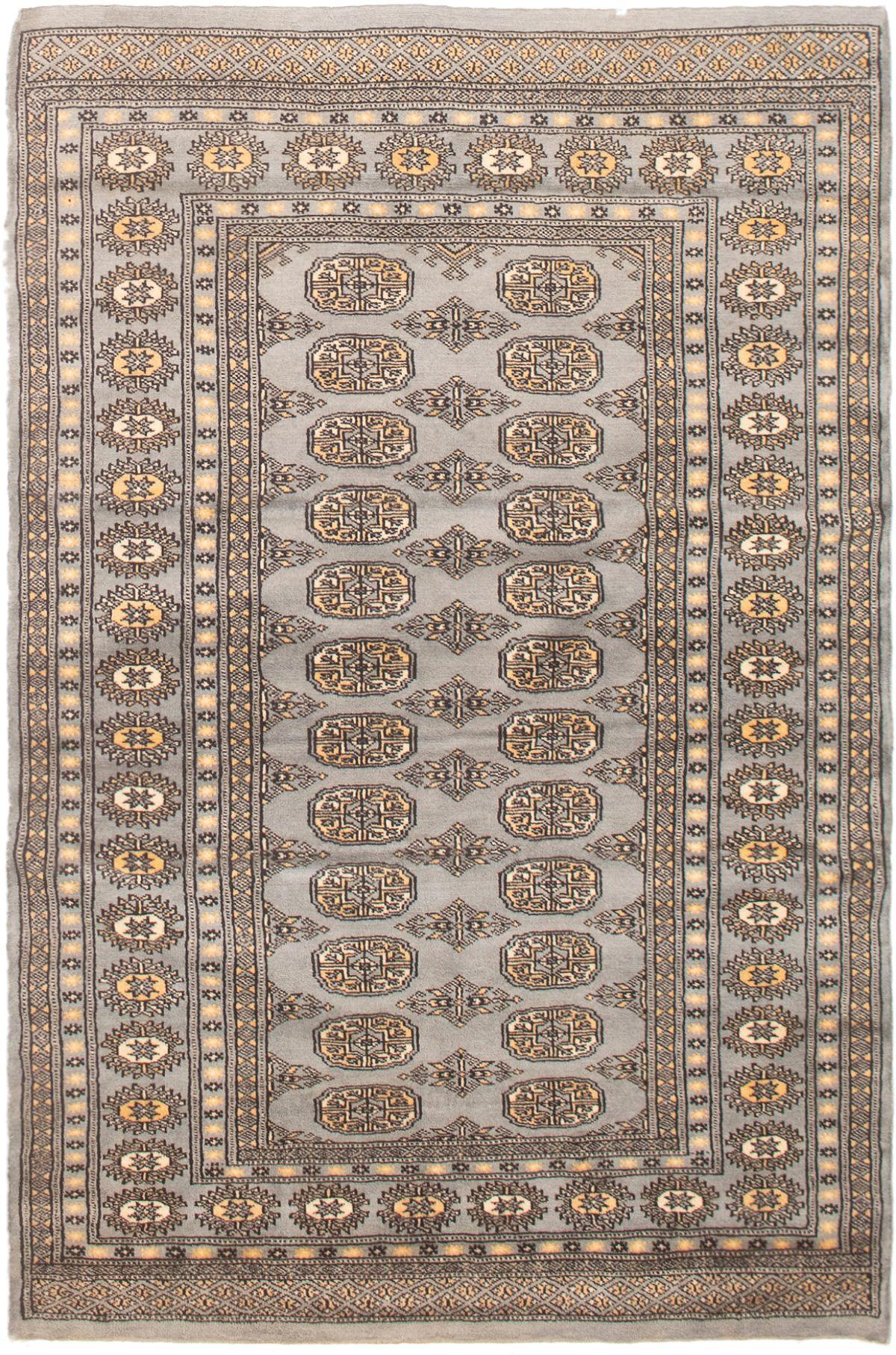 "Hand-knotted Finest Peshawar Bokhara Light Blue  Wool Rug 4'0"" x 6'2"" Size: 4'0"" x 6'2"""