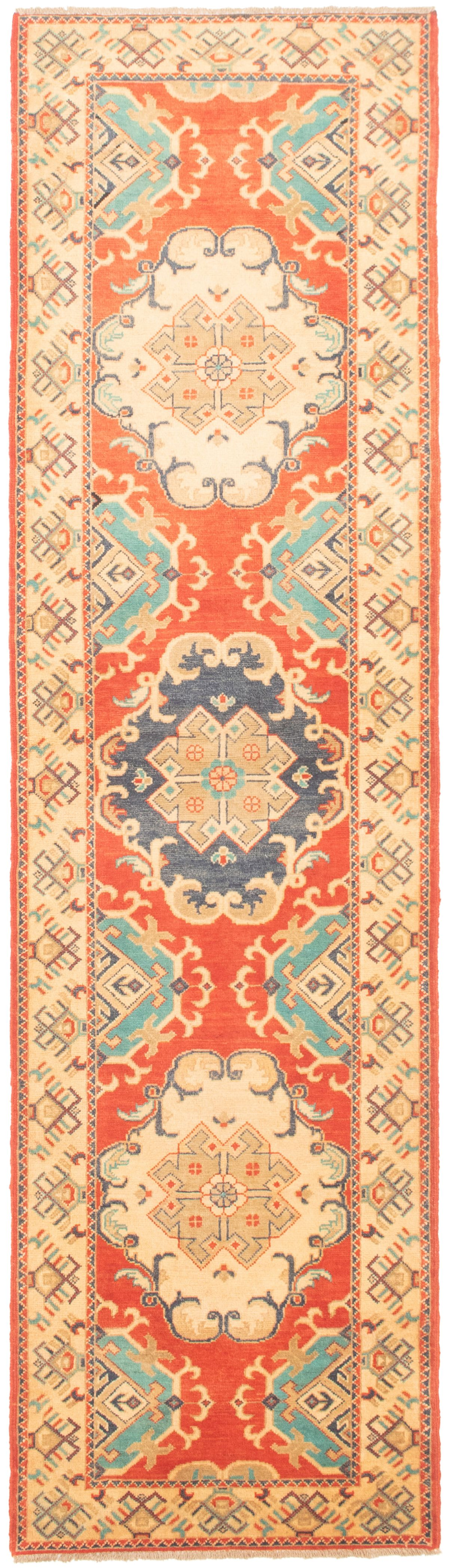 """Hand-knotted Finest Gazni Red Wool Rug 2'8"""" x 9'9""""  Size: 2'8"""" x 9'9"""""""