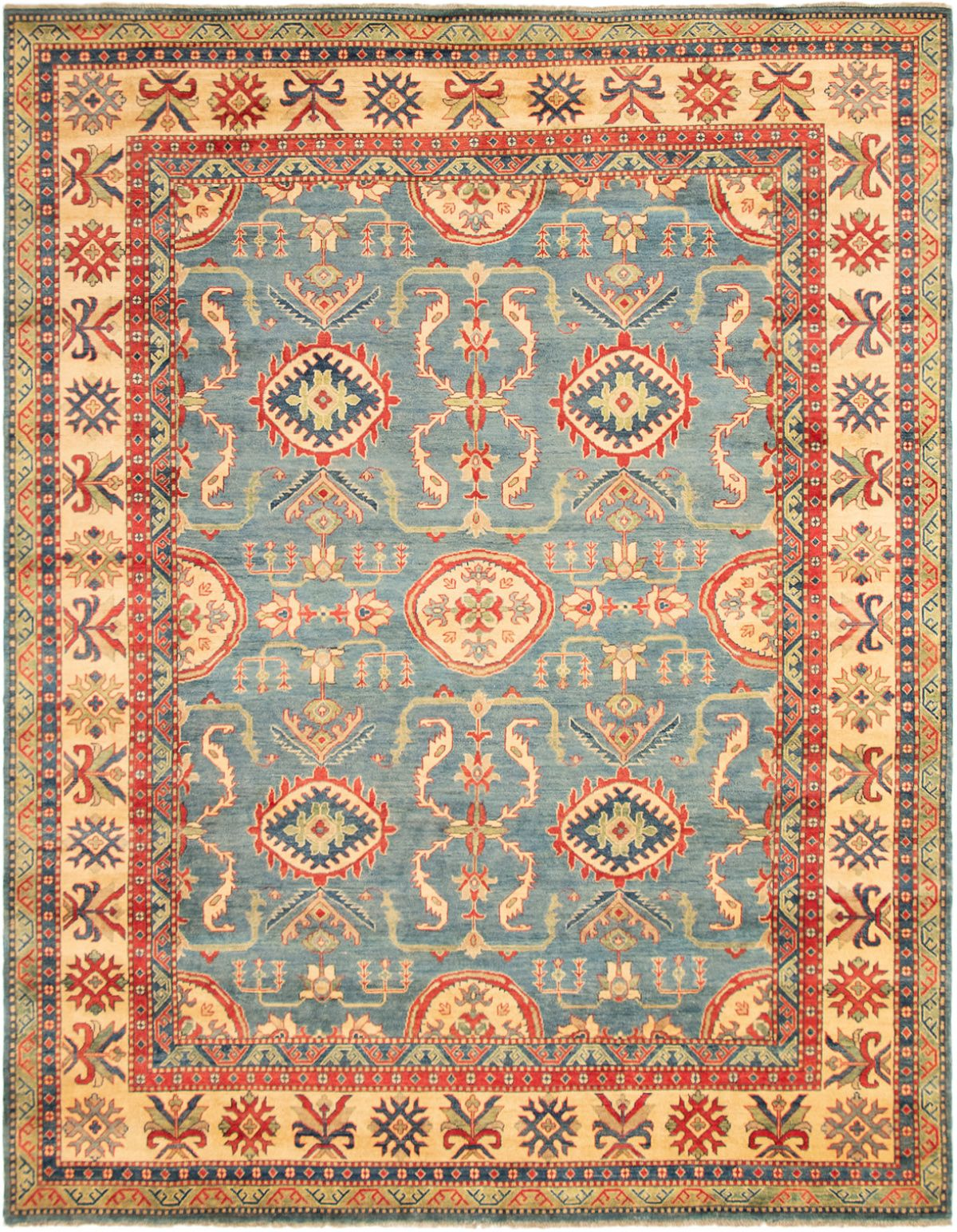 """Hand-knotted Finest Gazni Blue Wool Rug 9'2"""" x 11'9"""" Size: 9'2"""" x 11'9"""""""