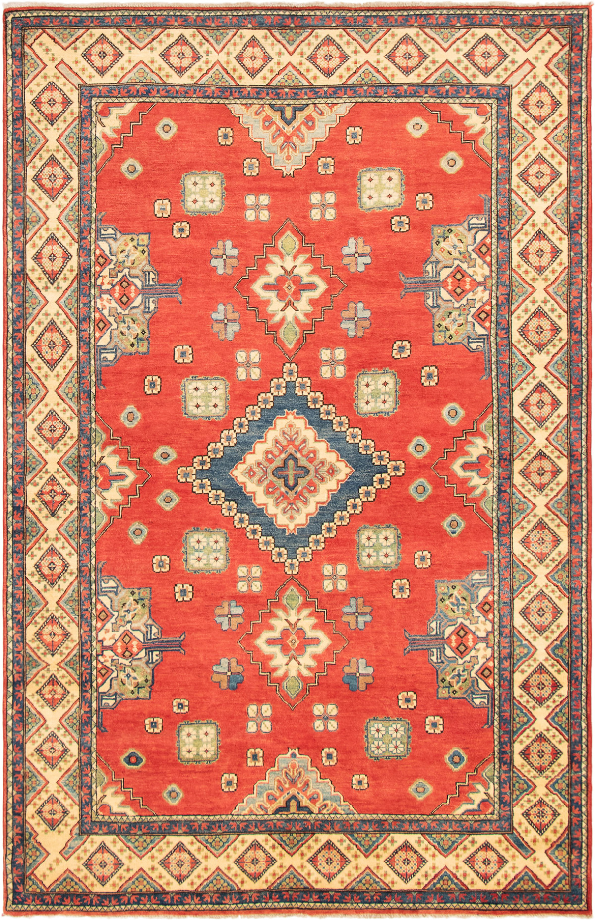 "Hand-knotted Finest Gazni Red Wool Rug 6'3"" x 9'8""  Size: 6'3"" x 9'8"""