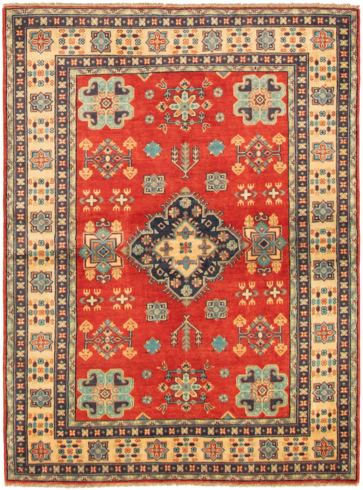 "Hand-knotted Finest Gazni Dark Copper Wool Rug 4'9"" x 6'6"" Size: 4'9"" x 6'6"""