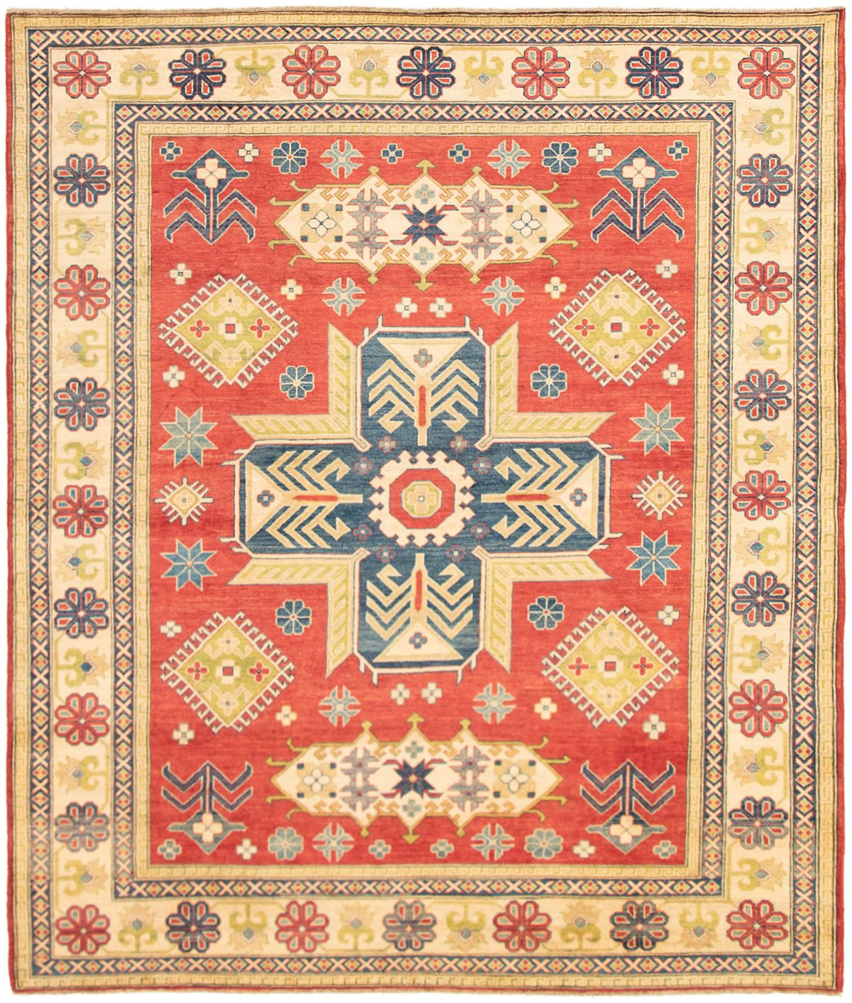 "Hand-knotted Finest Gazni Red Wool Rug 8'2"" x 9'8"" Product Image"