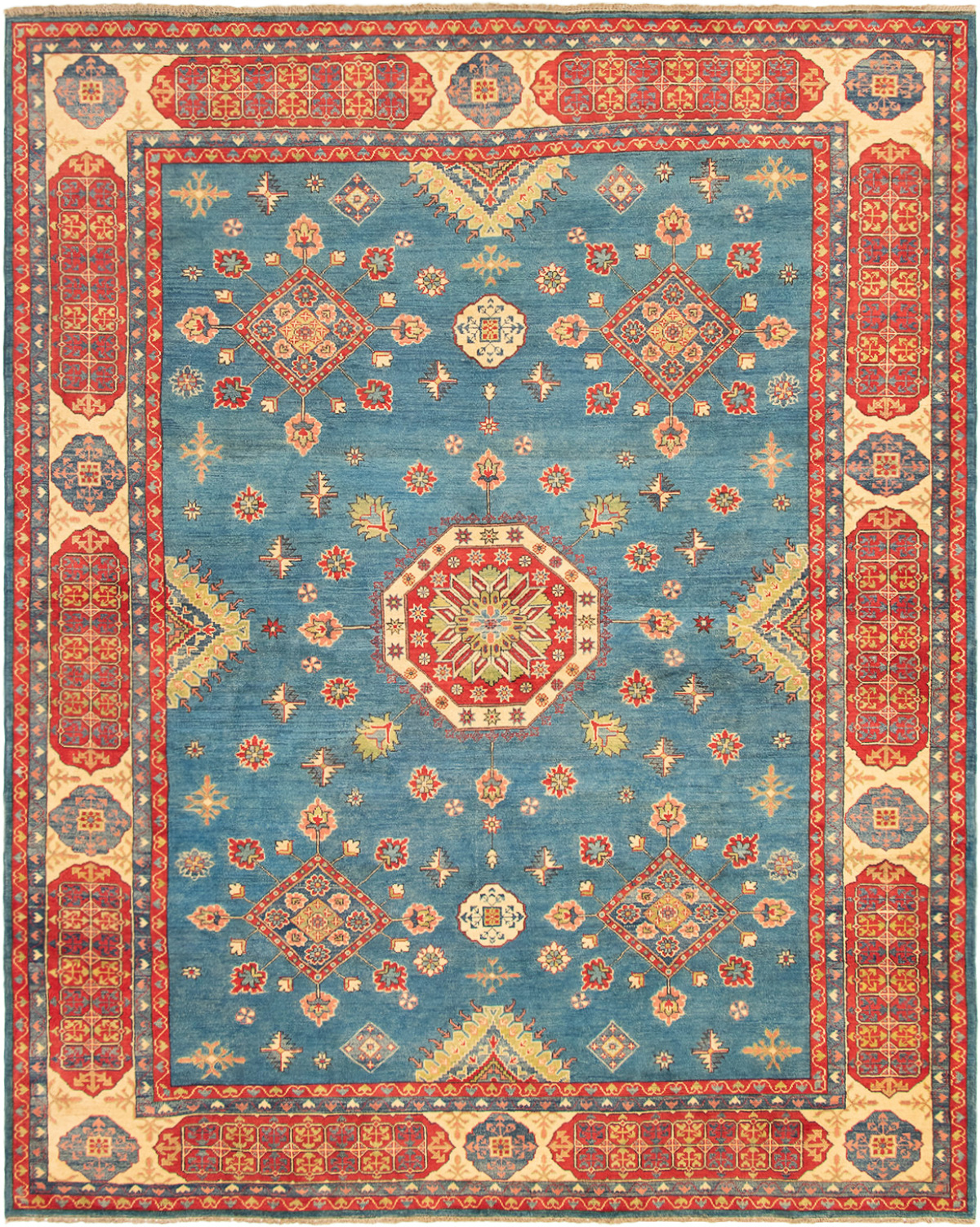 """Hand-knotted Finest Gazni Blue Wool Rug 8'10"""" x 11'0"""" Size: 8'10"""" x 11'0"""""""