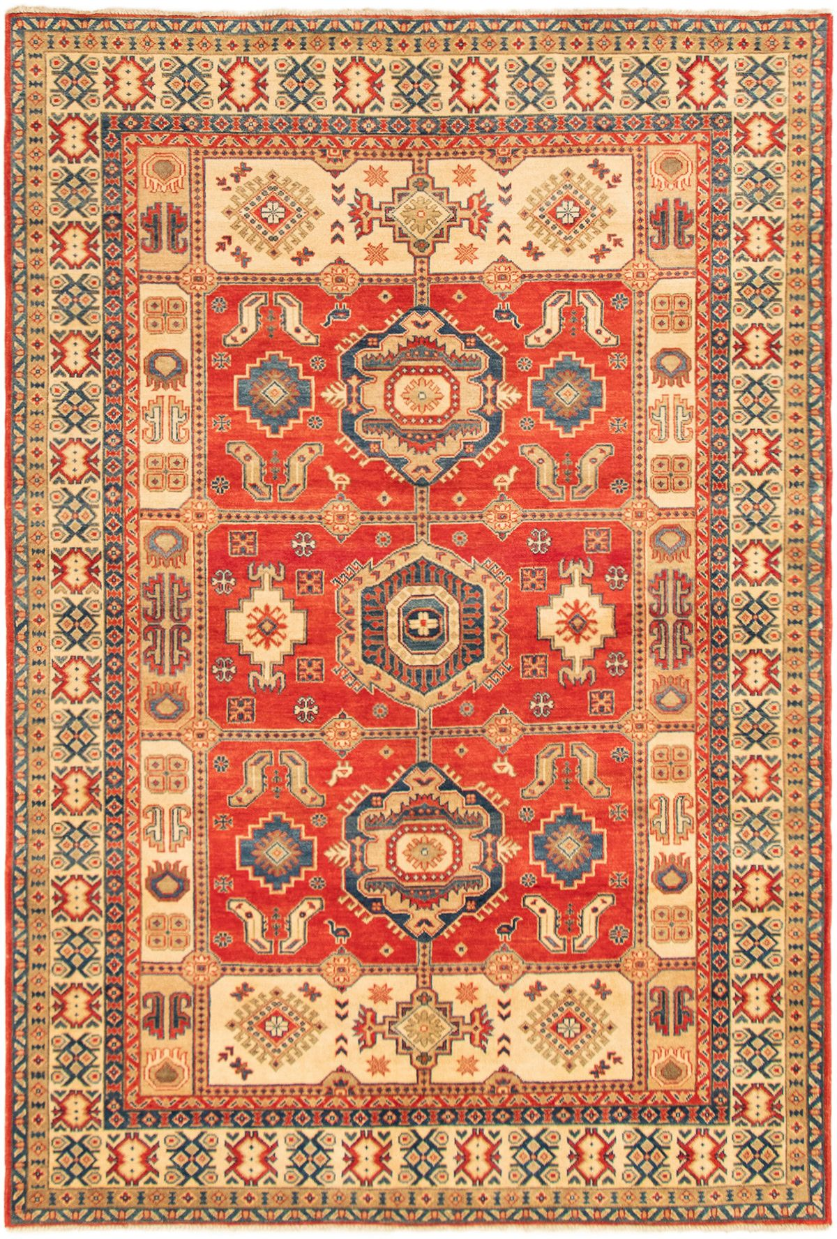 "Hand-knotted Finest Gazni Red Wool Rug 6'8"" x 9'9""  Product Image"