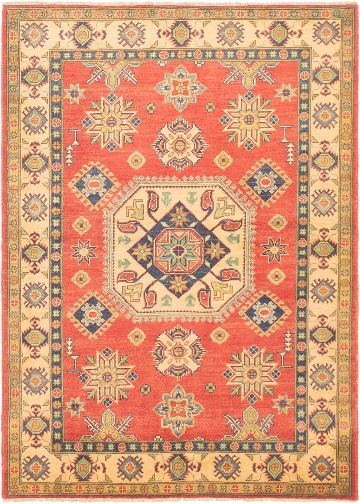 "Hand-knotted Finest Gazni Dark Copper Wool Rug 4'11"" x 6'9""  Size: 4'11"" x 6'9"""