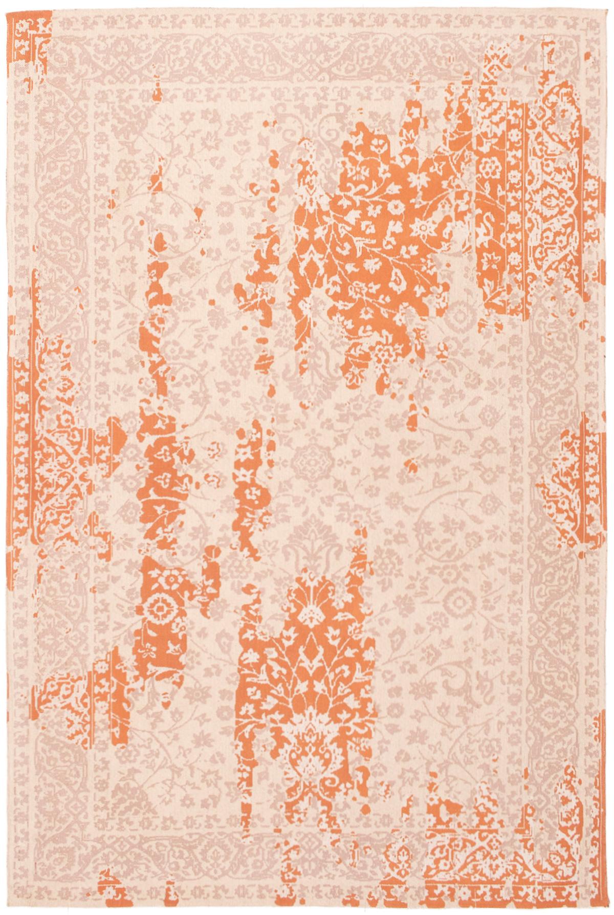 "Handmade Collage Burnt Orange, Ivory Chenille Rug 5'2"" x 7'9"" Size: 5'2"" x 7'9"""