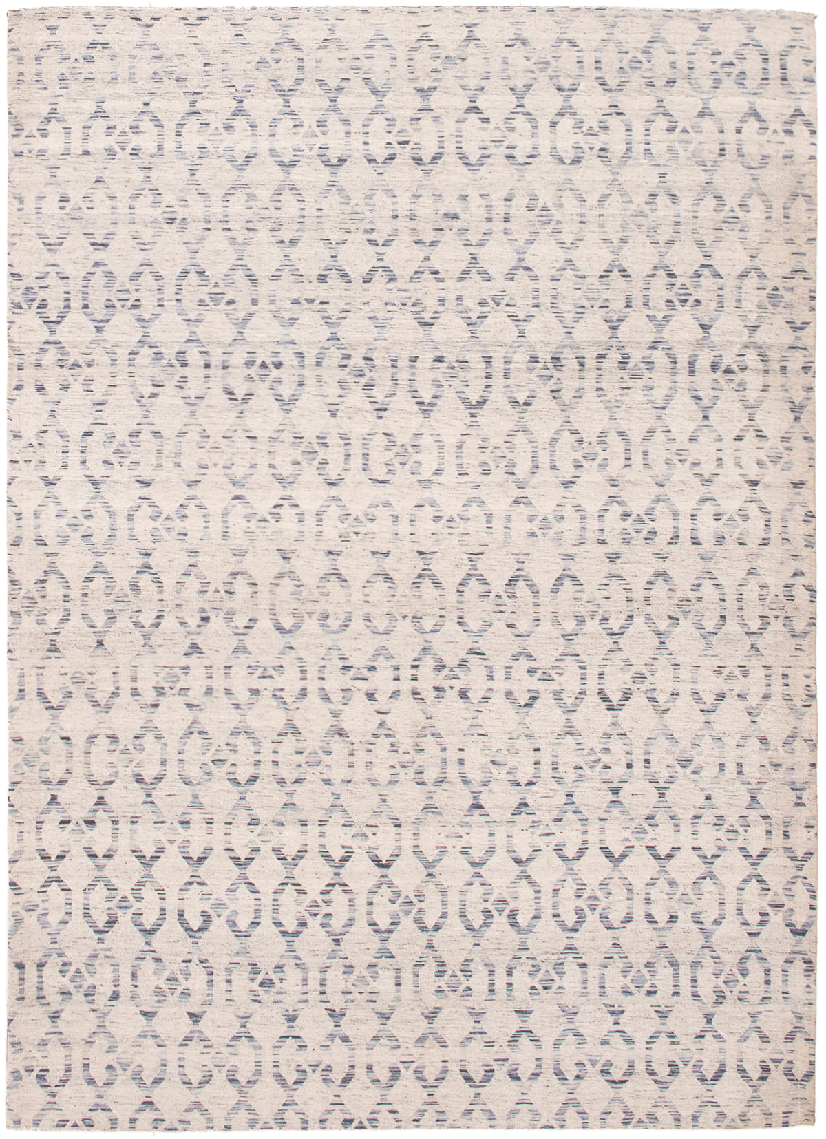 """Handmade Collage Ivory, Light Blue  Chenille Rug 5'2"""" x 7'8"""" Size: 5'2"""" x 7'8"""""""