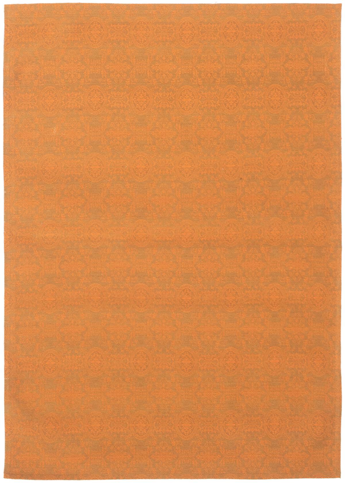 "Handmade Collage Burnt Orange Chenille Rug 4'9"" x 6'0"" Size: 4'9"" x 6'0"""